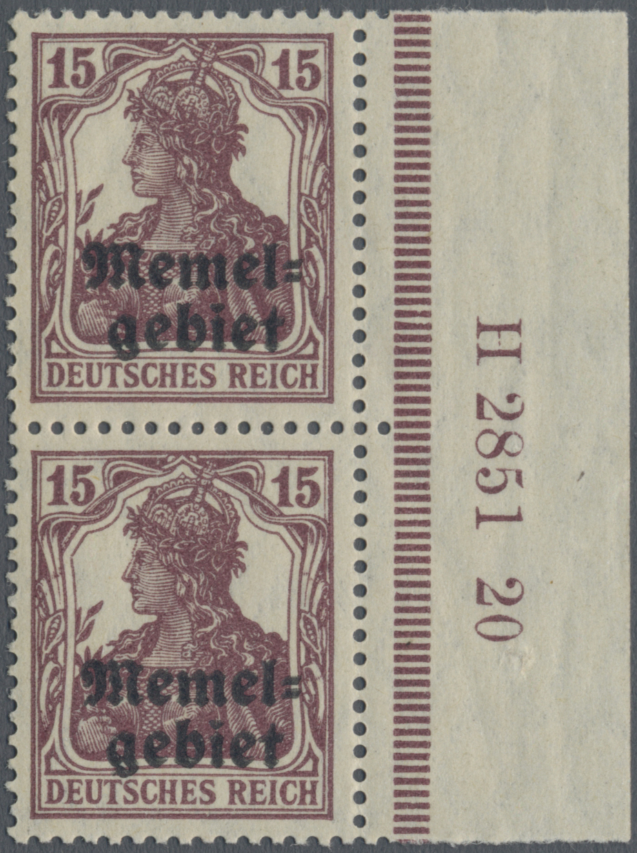 Lot 01004 - Memel  -  Auktionshaus Christoph Gärtner GmbH & Co. KG 50th Auction Anniversary Auction - Day 3