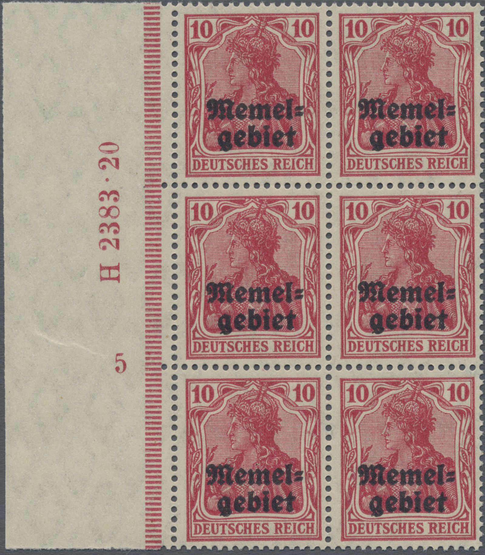 Lot 01003 - Memel  -  Auktionshaus Christoph Gärtner GmbH & Co. KG 50th Auction Anniversary Auction - Day 3