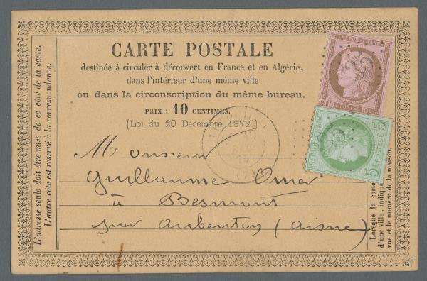 1873 1878 Sammlung Der Ganzsachenvorlauferkarten In Einem Album Mit 34 Stuck Ceres Frankaturen Teils Nummernstempeln