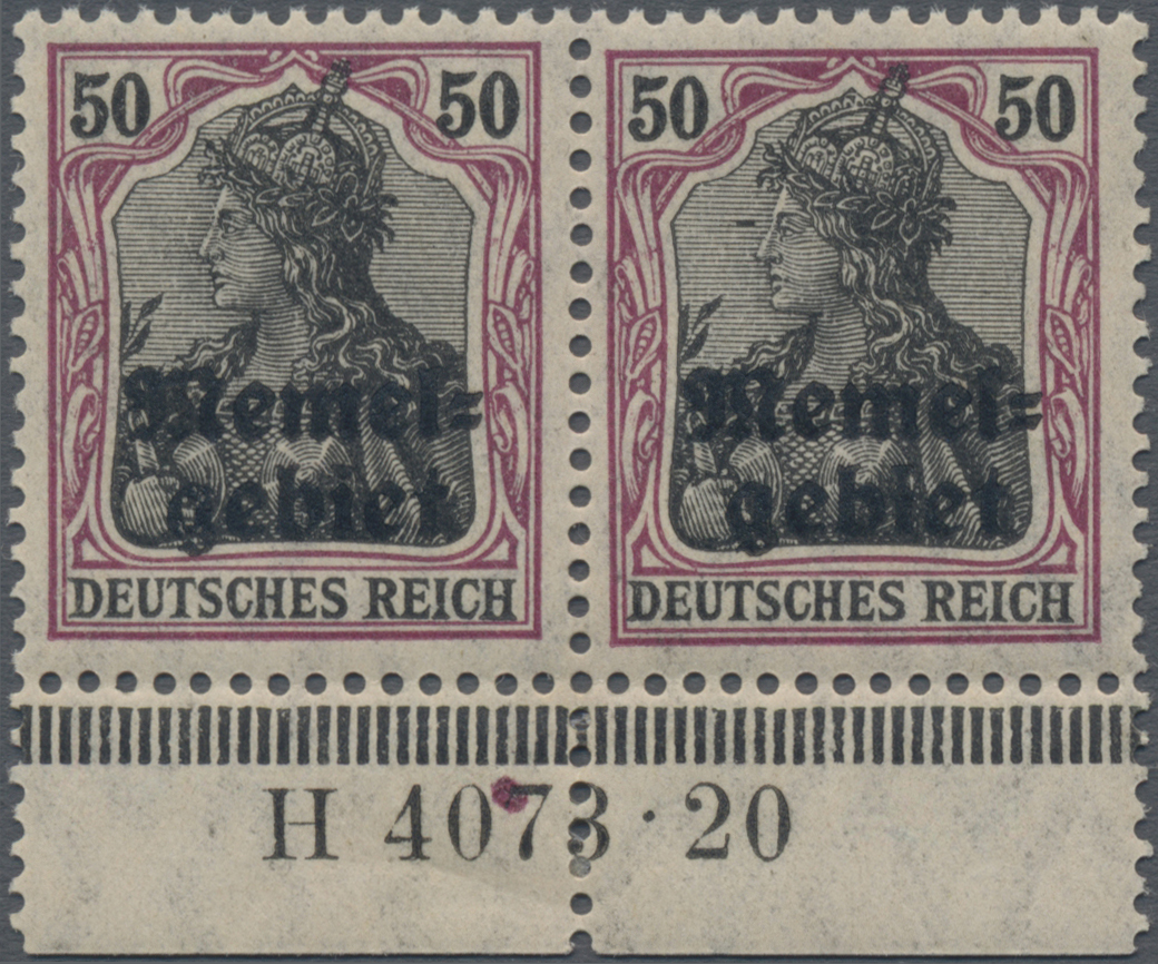 Lot 01008 - Memel  -  Auktionshaus Christoph Gärtner GmbH & Co. KG 50th Auction Anniversary Auction - Day 3