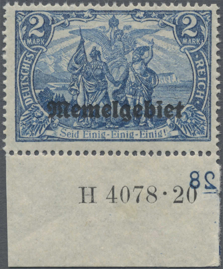 Lot 01012 - Memel  -  Auktionshaus Christoph Gärtner GmbH & Co. KG 50th Auction Anniversary Auction - Day 3
