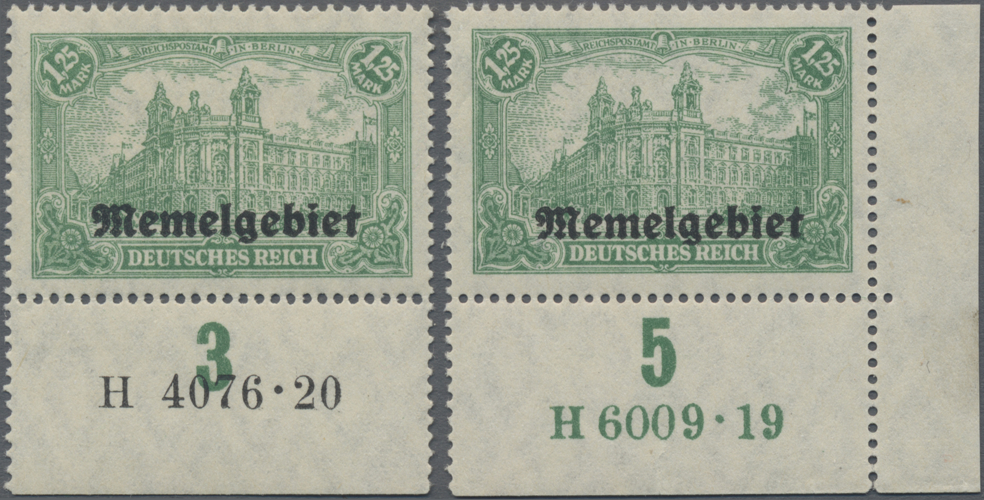 Lot 01010 - Memel  -  Auktionshaus Christoph Gärtner GmbH & Co. KG 50th Auction Anniversary Auction - Day 3