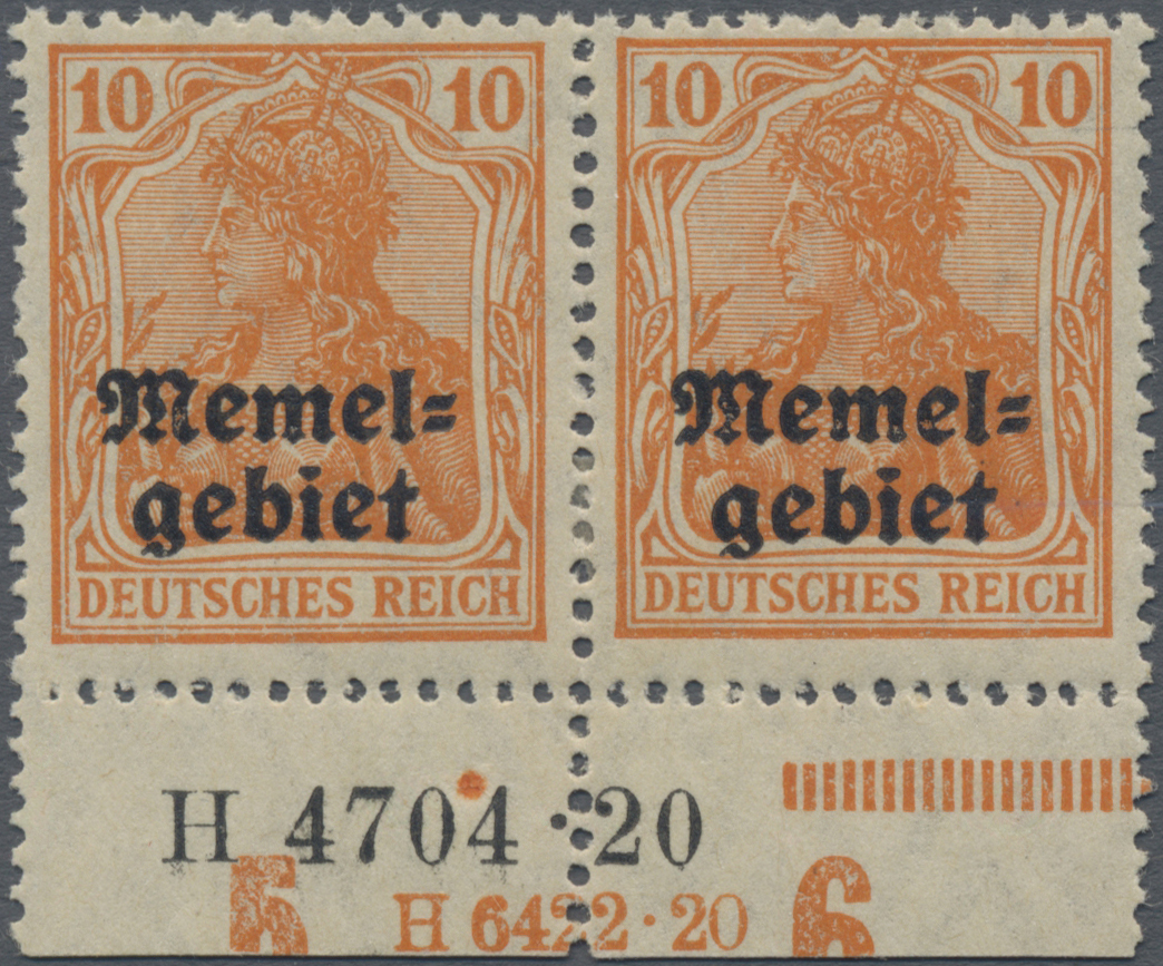 Lot 01020 - Memel  -  Auktionshaus Christoph Gärtner GmbH & Co. KG 50th Auction Anniversary Auction - Day 3