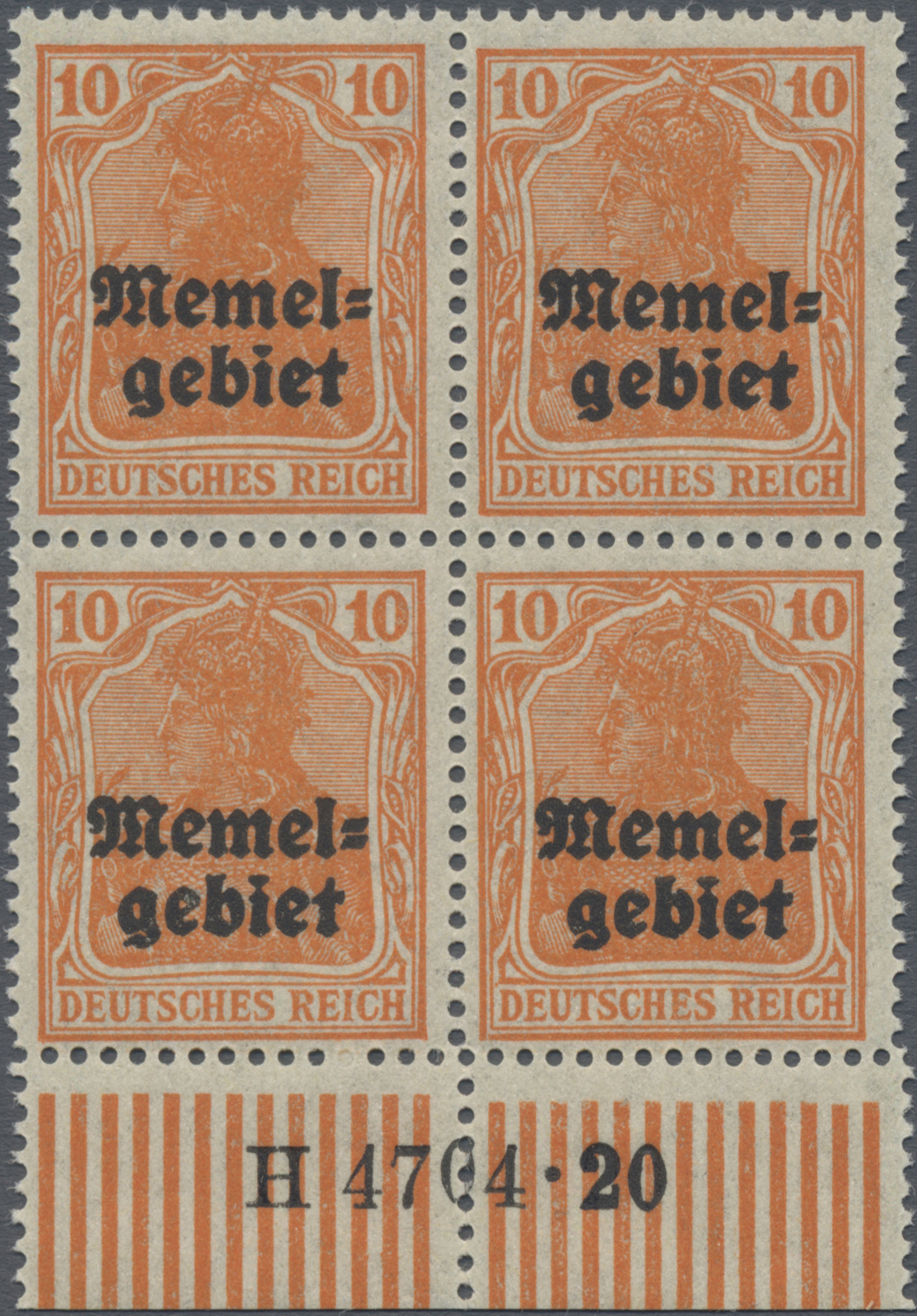 Lot 01019 - Memel  -  Auktionshaus Christoph Gärtner GmbH & Co. KG 50th Auction Anniversary Auction - Day 3