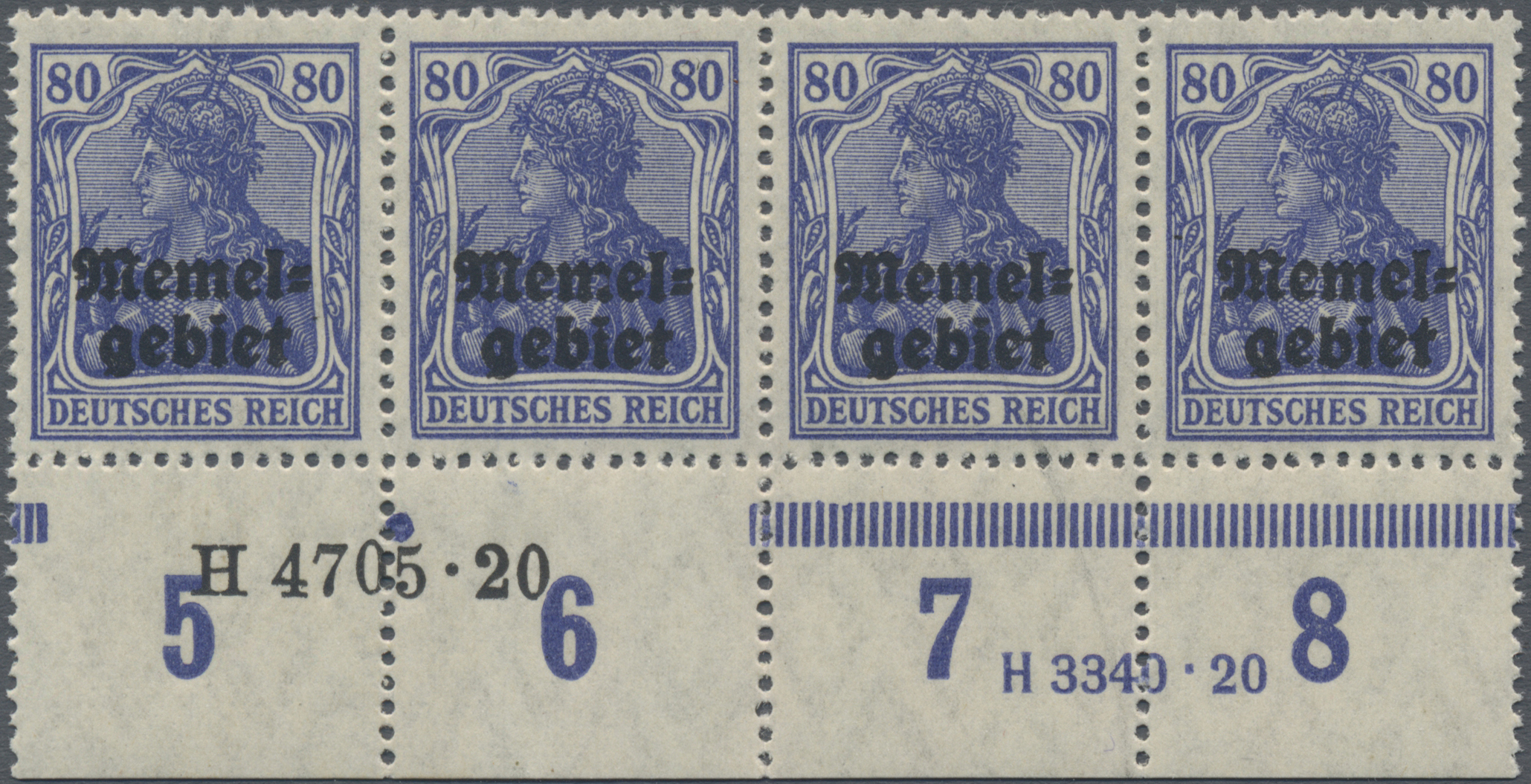 Lot 01022 - Memel  -  Auktionshaus Christoph Gärtner GmbH & Co. KG 50th Auction Anniversary Auction - Day 3