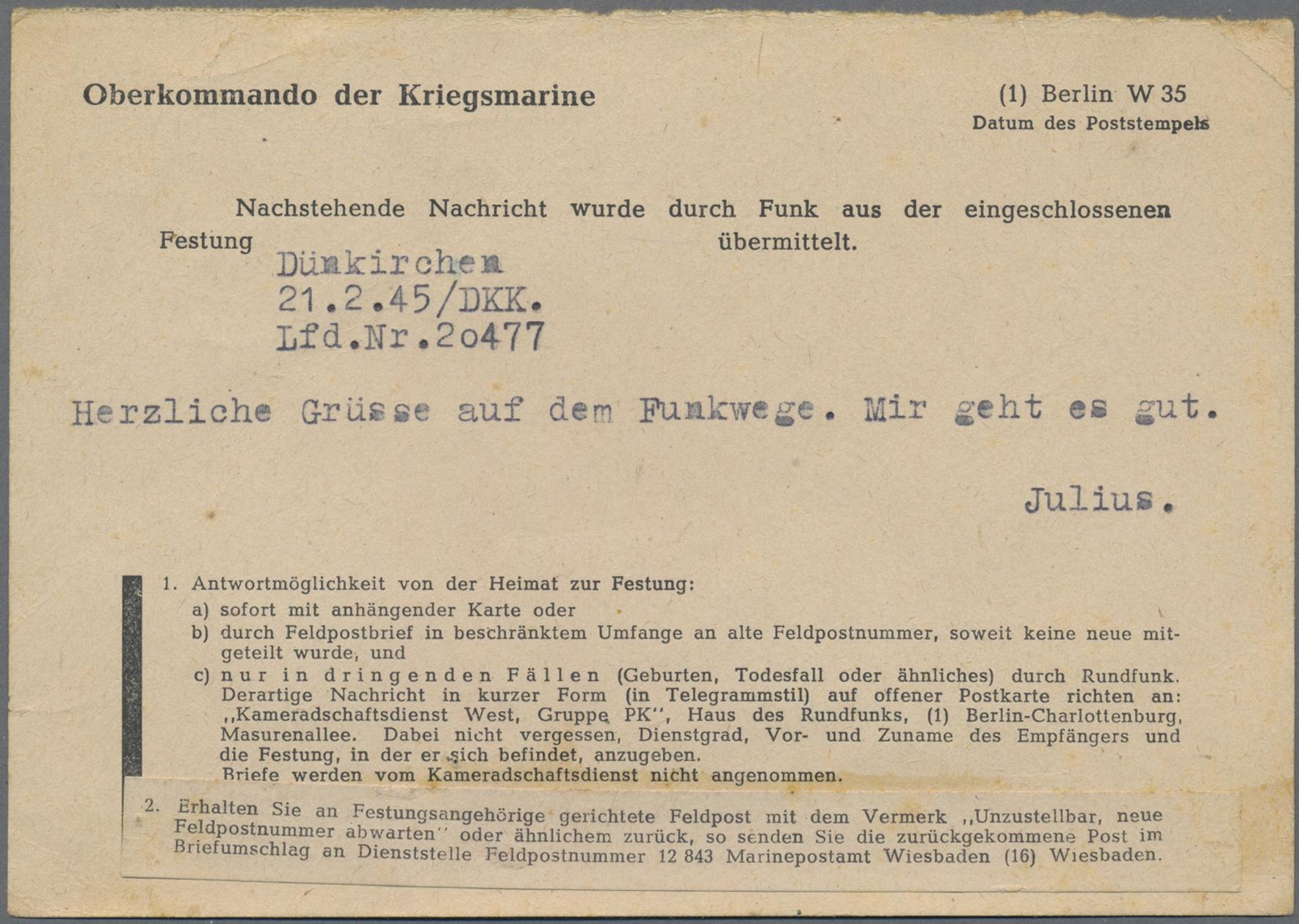 Lot 12388 - feldpost 2. weltkrieg  -  Auktionshaus Christoph Gärtner GmbH & Co. KG 50th Auction Anniversary Auction - Day 4