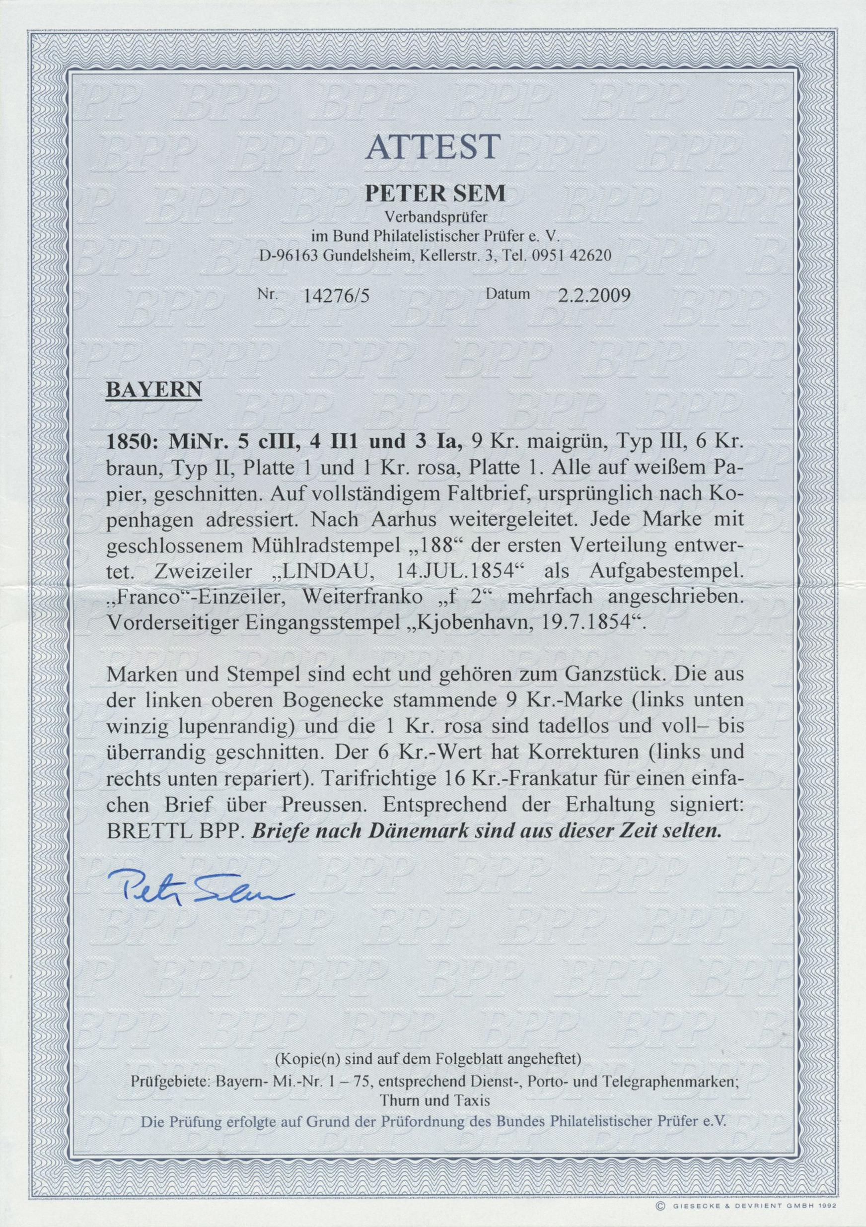 Coin Auction Bayern Marken Und Briefe Germany Auction 42 Day