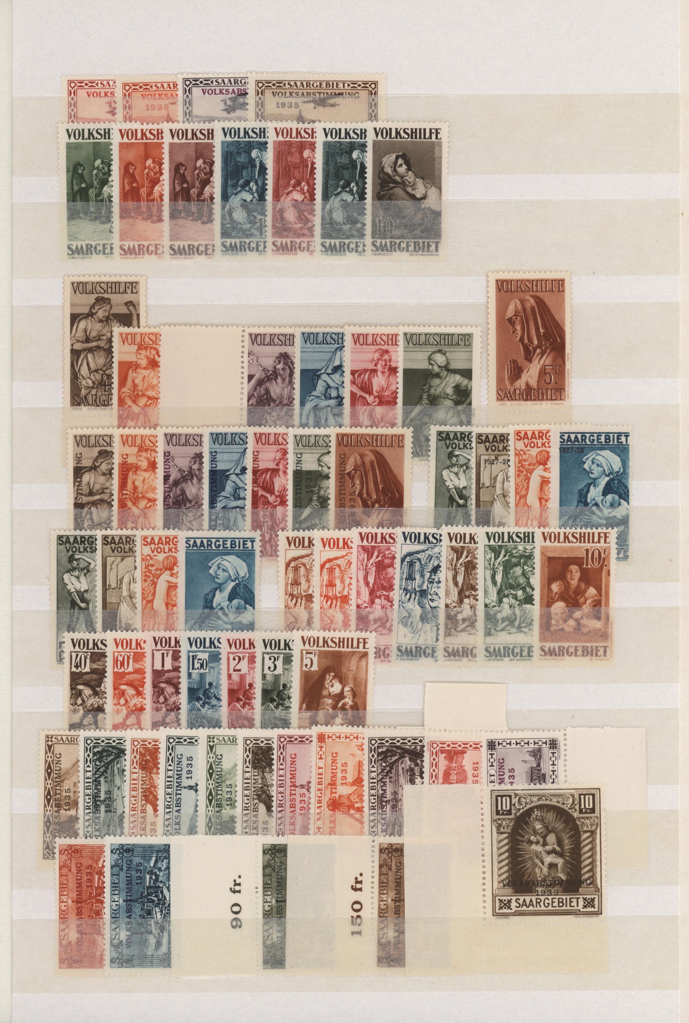 Lot 23672 - Deutsche Abstimmungsgebiete: Saargebiet  -  Auktionshaus Christoph Gärtner GmbH & Co. KG 50th Auction Anniversary Auction - Day 7