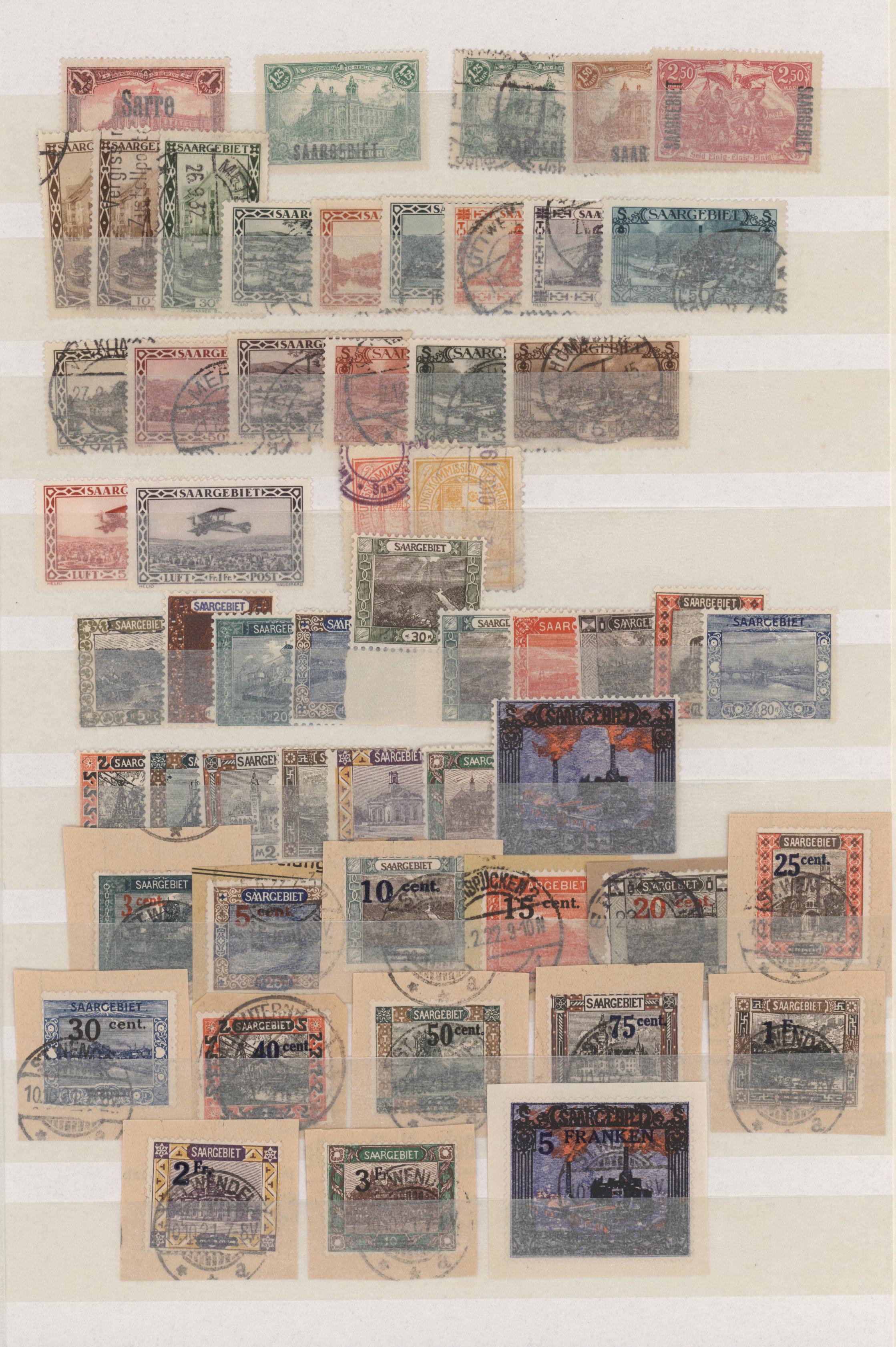 Lot 23663 - Deutsche Abstimmungsgebiete: Saargebiet  -  Auktionshaus Christoph Gärtner GmbH & Co. KG 50th Auction Anniversary Auction - Day 7