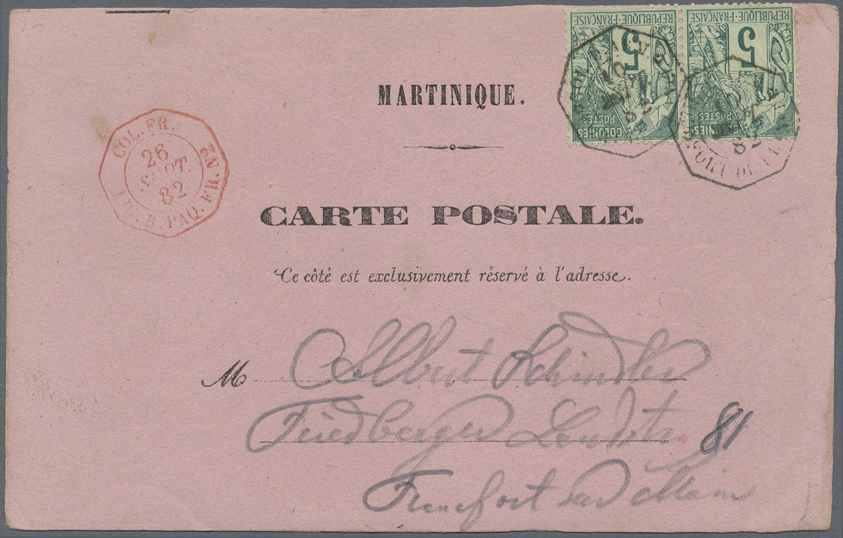 Behr Philatelie Mail Auction 38 Page 8: France Poste Maritime