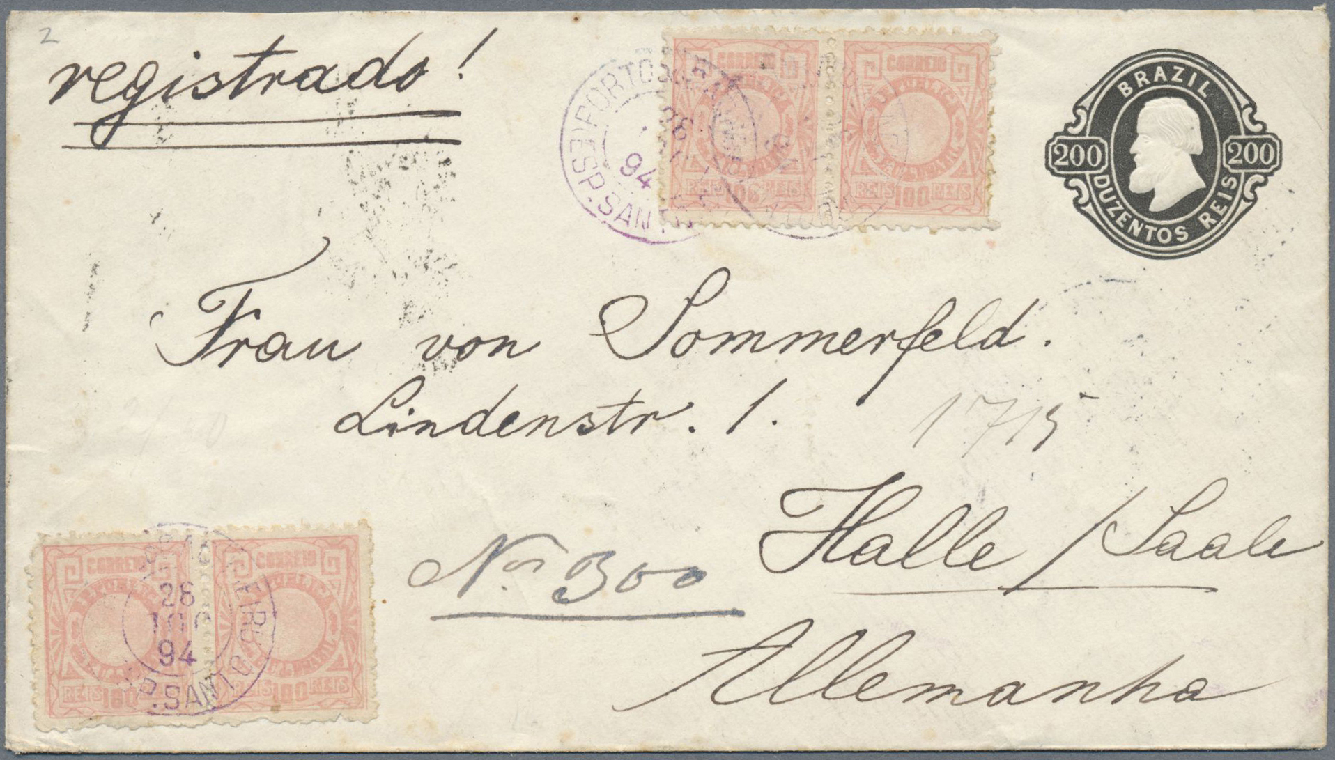 Lot 13427B - Brasilien - Ganzsachen  -  Auktionshaus Christoph Gärtner GmbH & Co. KG Single lots Philately Overseas & Europe. Auction #39 Day 4