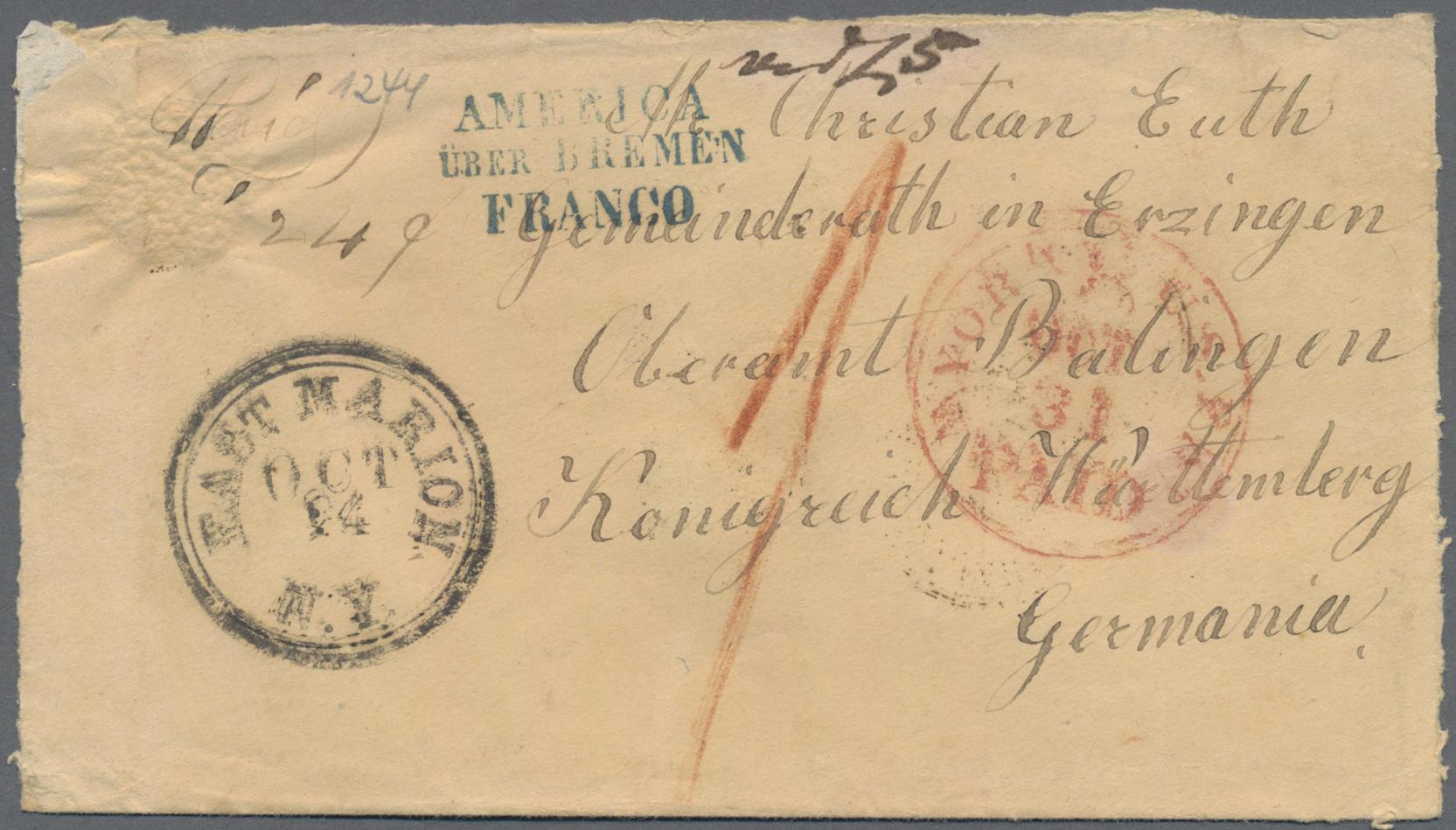 Lot 36376 - Transatlantikmail  -  Auktionshaus Christoph Gärtner GmbH & Co. KG Sale #44 Collections Germany