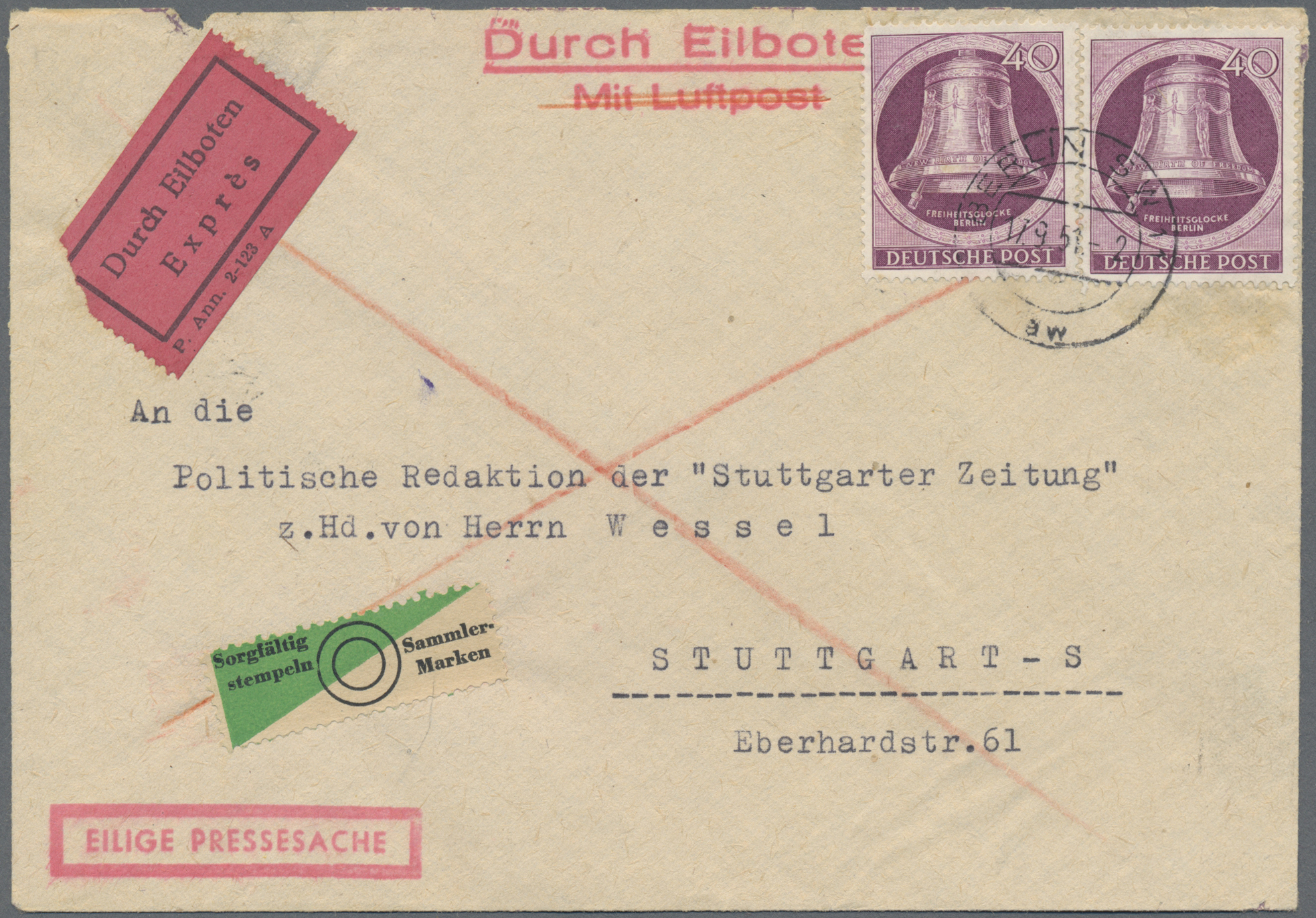 Lot 29367 - berlin  -  Auktionshaus Christoph Gärtner GmbH & Co. KG Sale #46 Gollcetions Germany - including the suplement
