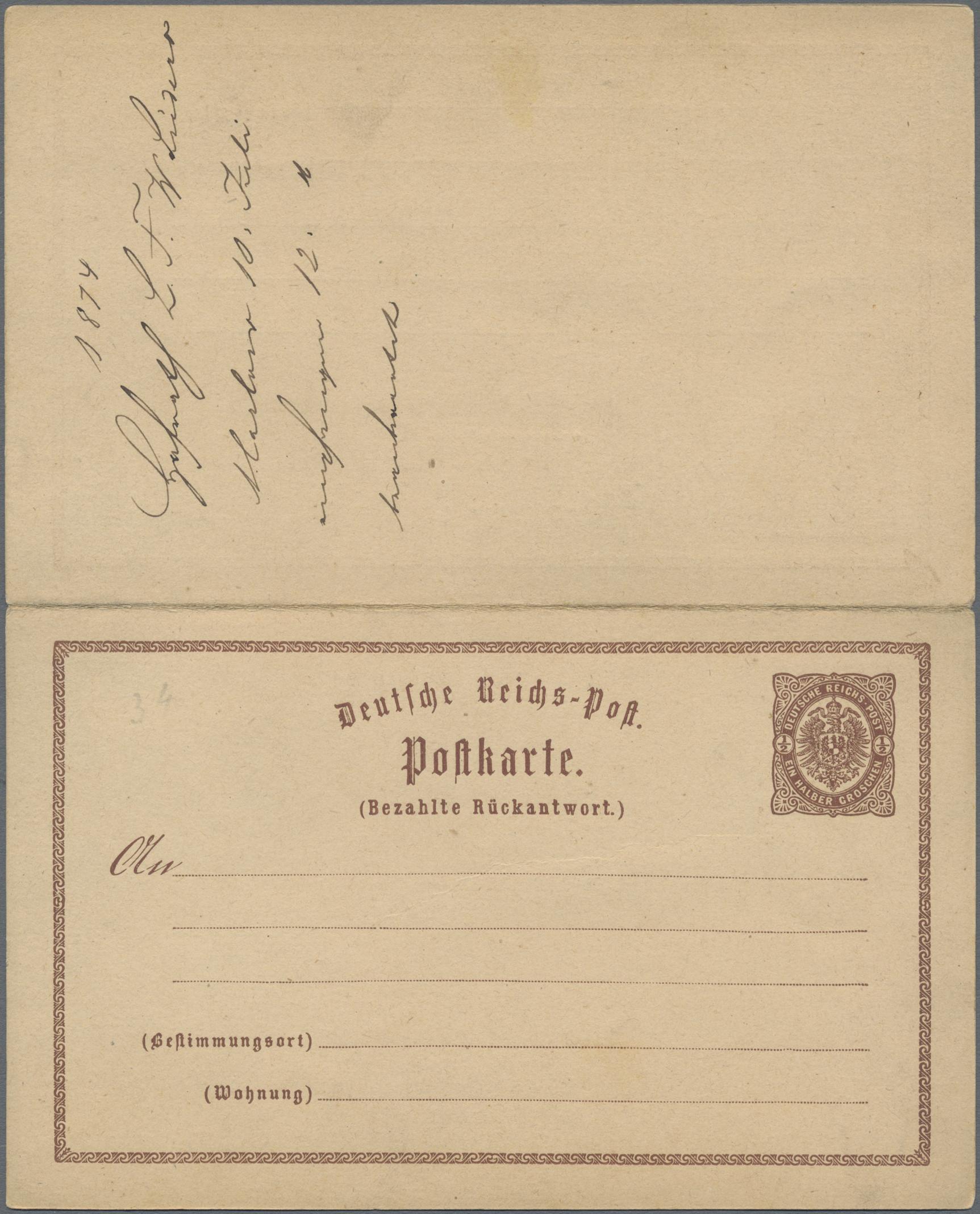 Lot 05721 - Mecklenburg-Schwerin - Nachverwendete Stempel  -  Auktionshaus Christoph Gärtner GmbH & Co. KG Special Auction 26.- 28. May 2020