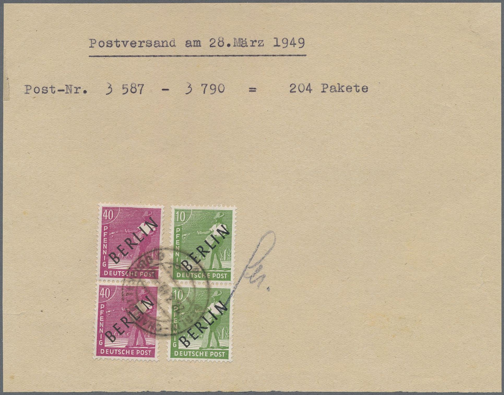 Paket -mef 40 Doppelte Verwendung Selten Am Post Deutschland 60 Pfennig