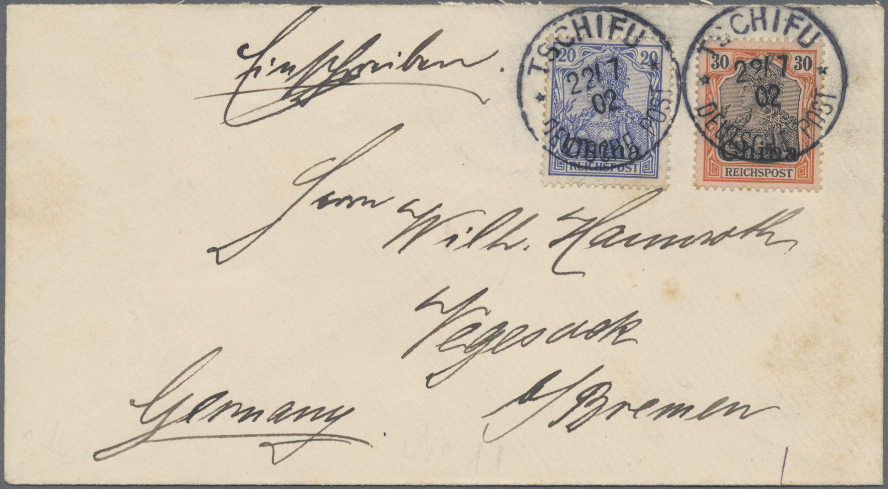 Lot 36921 - deutsche post in china  -  Auktionshaus Christoph Gärtner GmbH & Co. KG Sale #44 Collections Germany