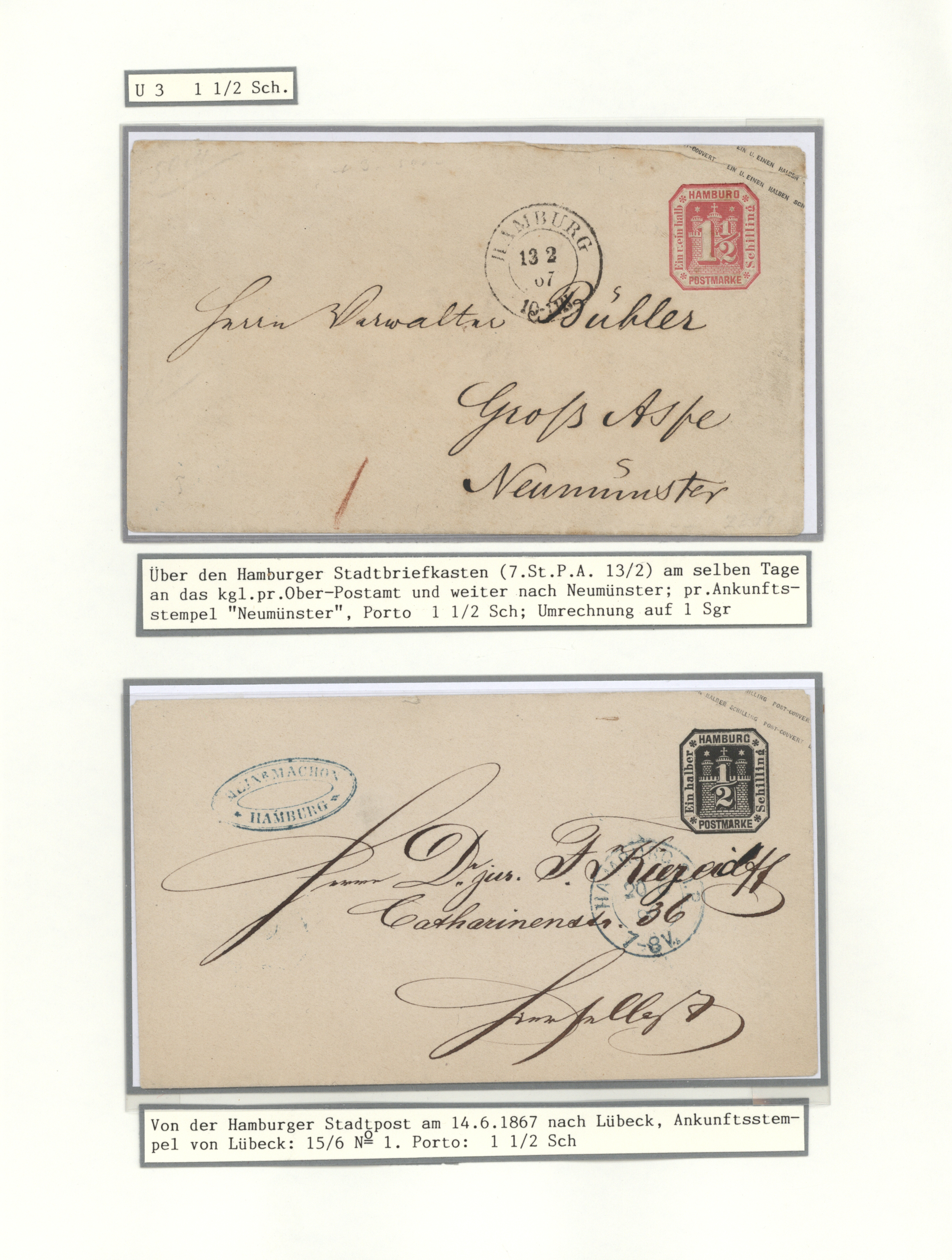 Lot 36236 - Hamburg - Ganzsachen  -  Auktionshaus Christoph Gärtner GmbH & Co. KG Sale #44 Collections Germany