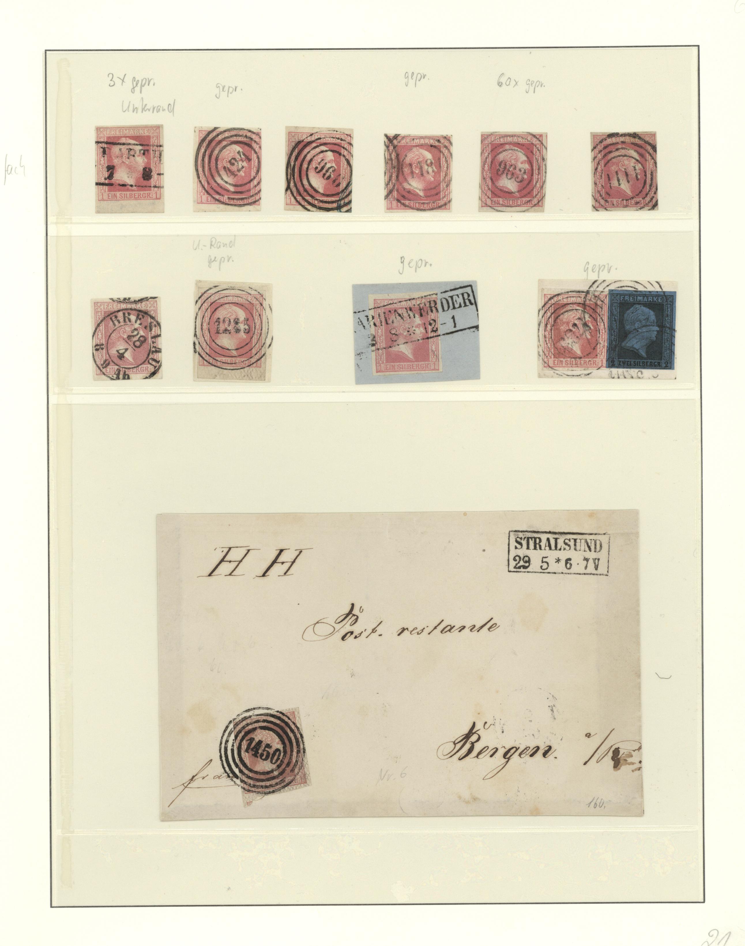Lot 36281 - Preußen - Marken und Briefe  -  Auktionshaus Christoph Gärtner GmbH & Co. KG Sale #44 Collections Germany