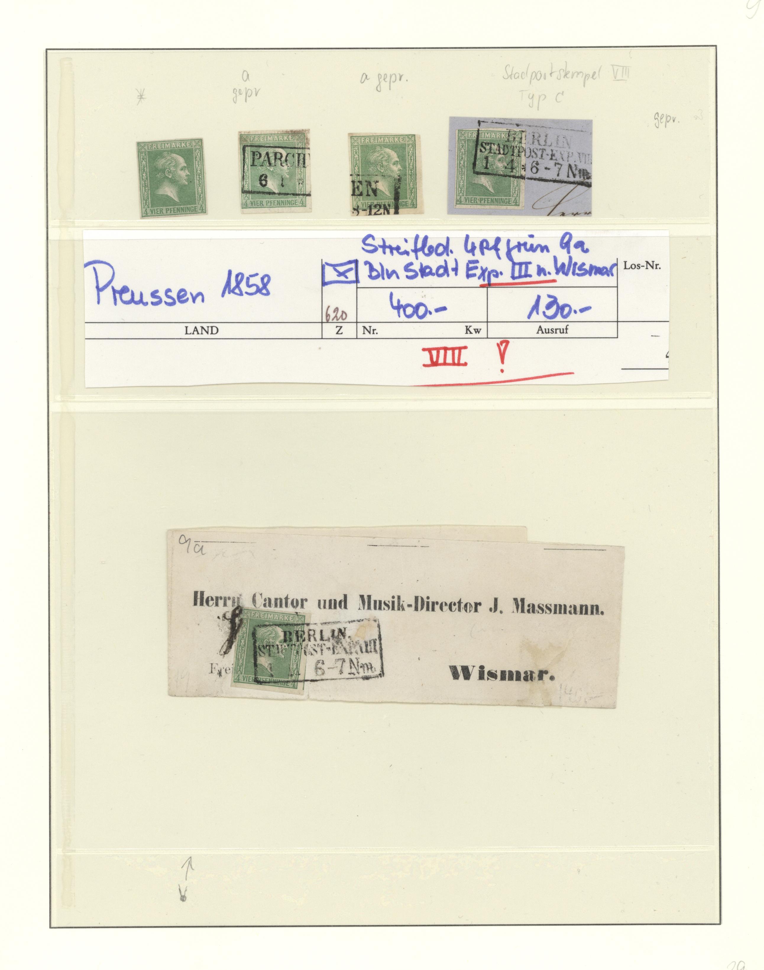 Lot 36282 - Preußen - Marken und Briefe  -  Auktionshaus Christoph Gärtner GmbH & Co. KG Sale #44 Collections Germany