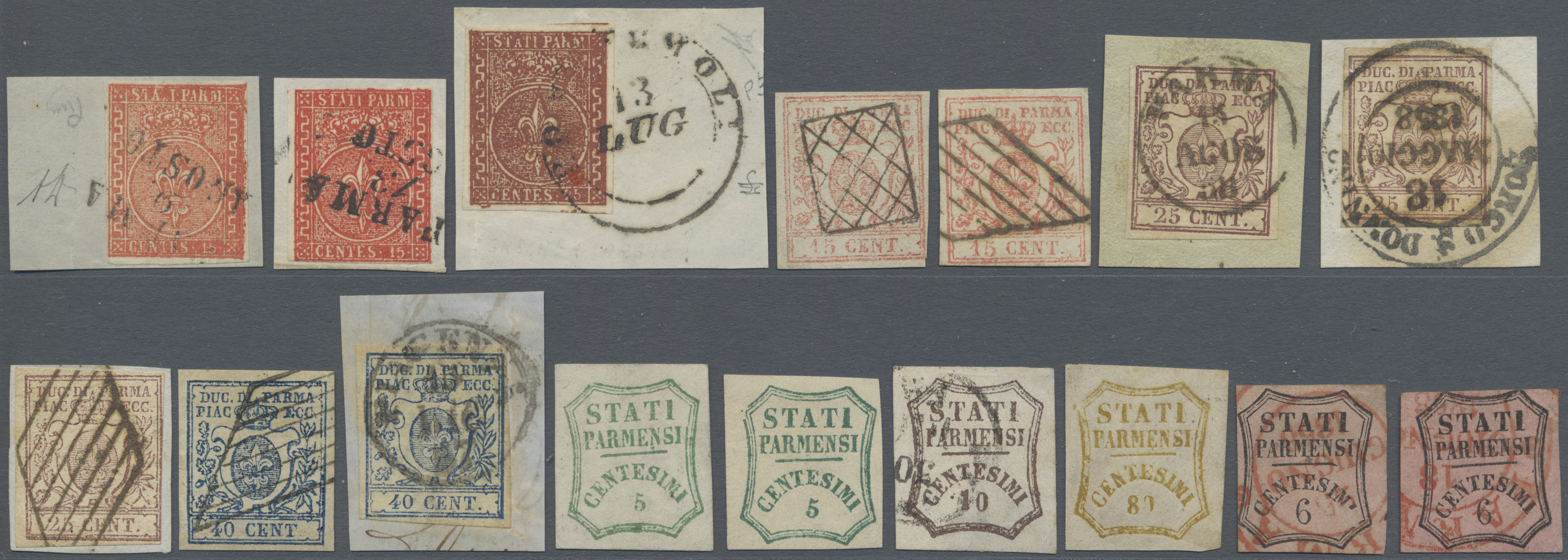Lot 17193 - Italien - Altitalienische Staaten: Parma  -  Auktionshaus Christoph Gärtner GmbH & Co. KG Sale #48 collections Overseas  Airmail / Ship mail & Thematics