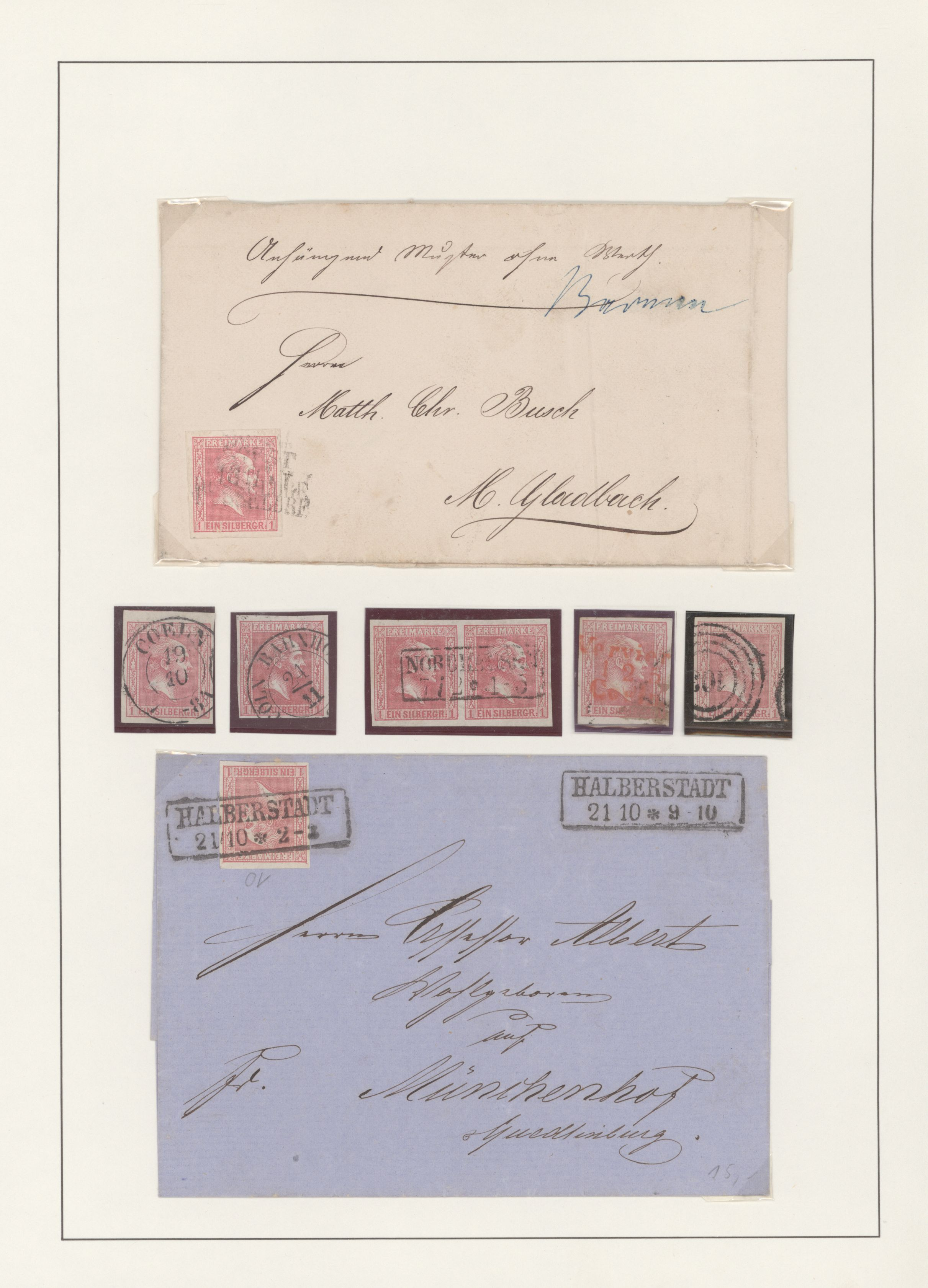 Lot 22891 - Preußen - Marken und Briefe  -  Auktionshaus Christoph Gärtner GmbH & Co. KG 50th Auction Anniversary Auction - Day 7