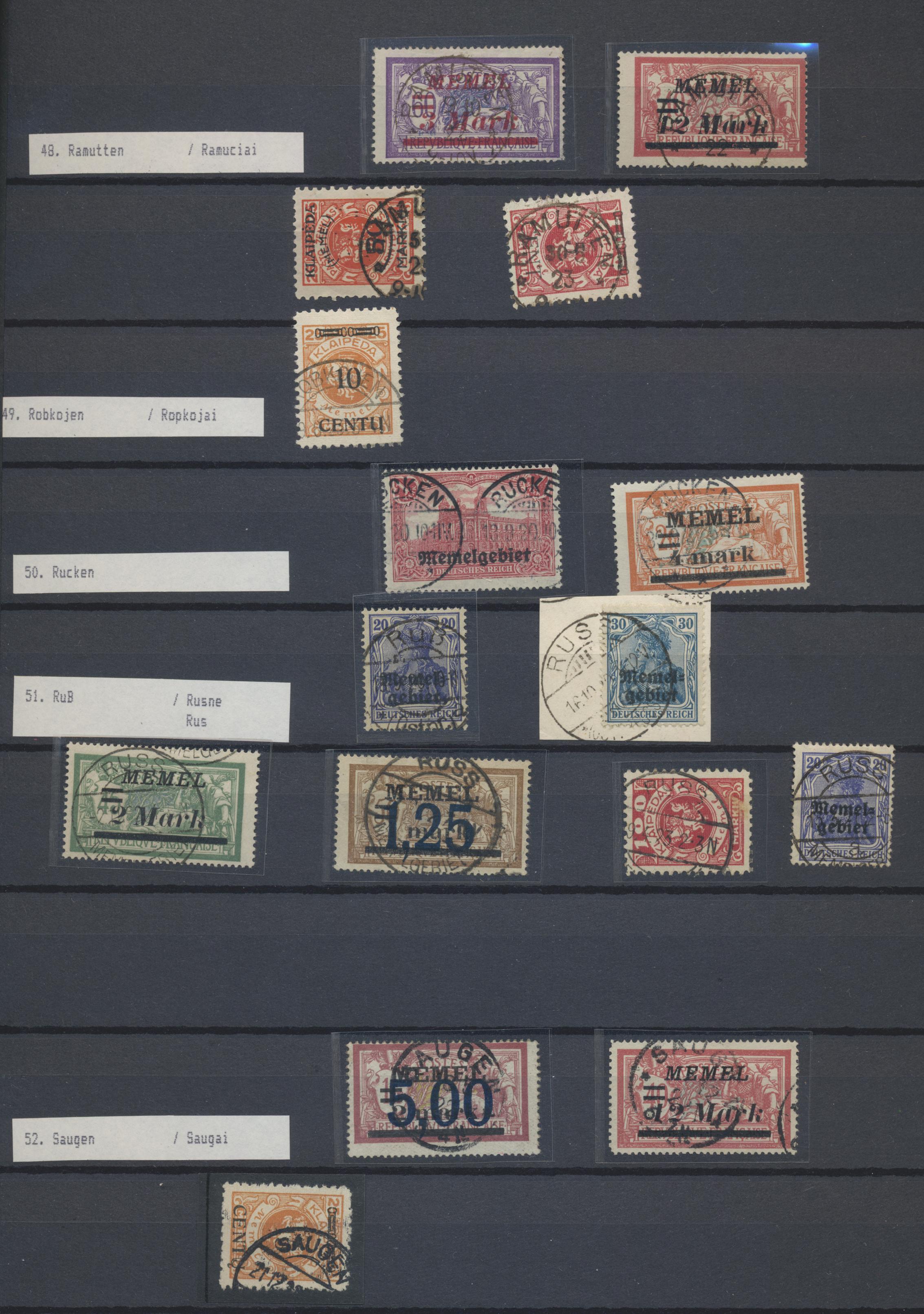 Lot 37073 - Memel  -  Auktionshaus Christoph Gärtner GmbH & Co. KG Sale #44 Collections Germany