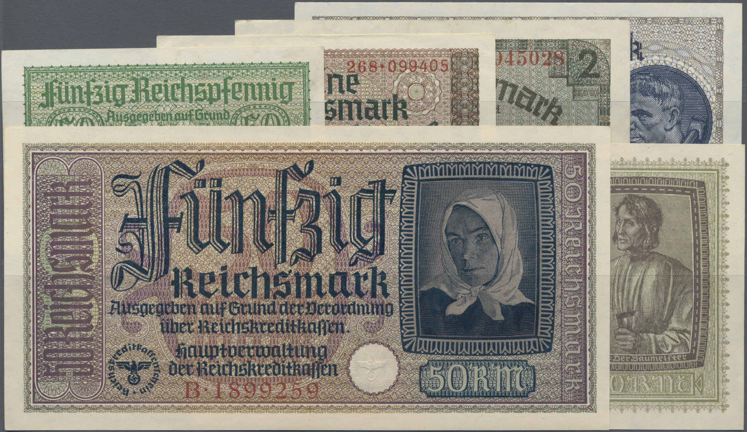 Lot 03475 - Deutschland - Nebengebiete Deutsches Reich | Banknoten  -  Auktionshaus Christoph Gärtner GmbH & Co. KG Sale #45 Banknotes Germany/Numismatics