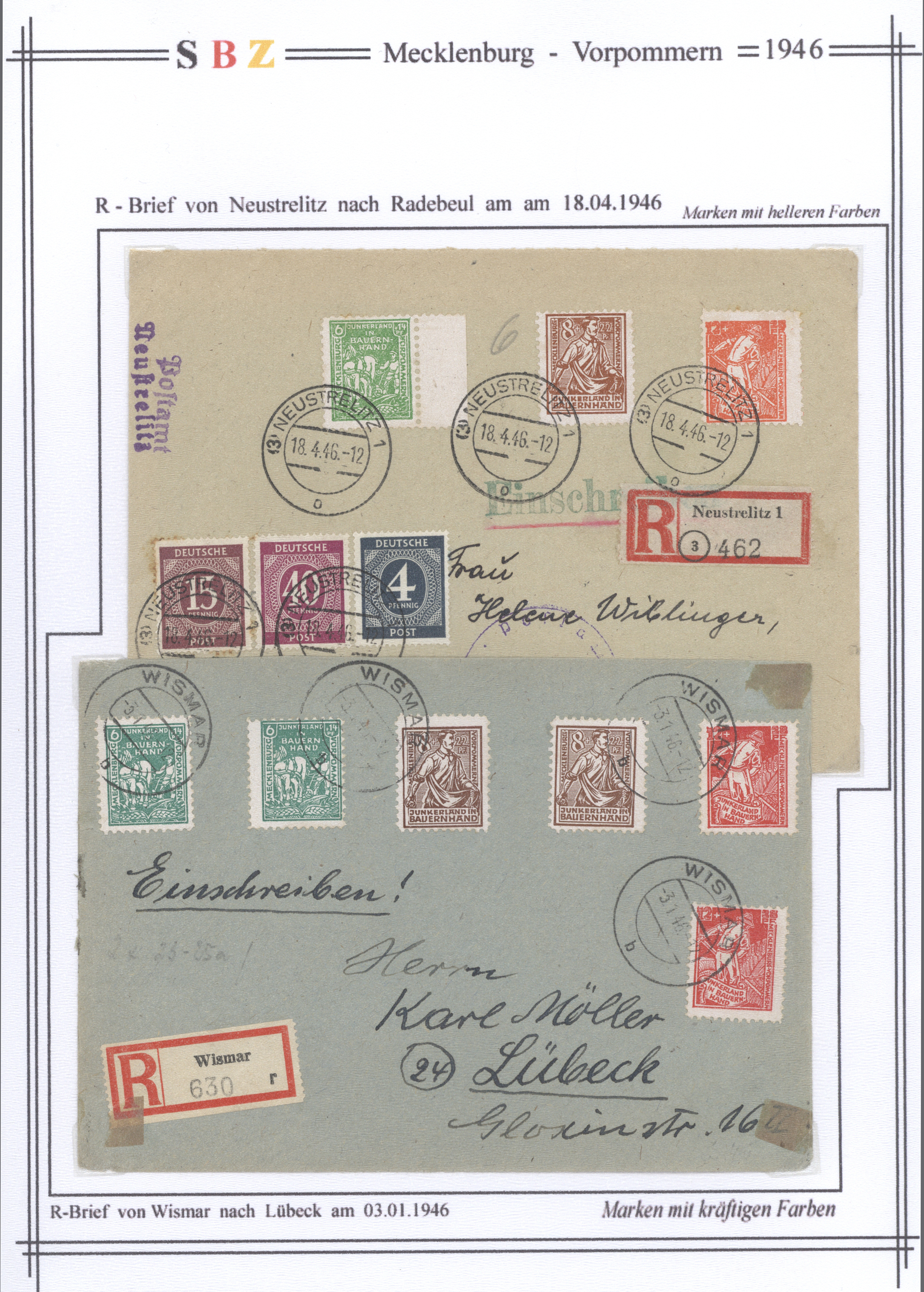 Lot 37316 - Sowjetische Zone - Mecklenburg-Vorpommern  -  Auktionshaus Christoph Gärtner GmbH & Co. KG Sale #44 Collections Germany