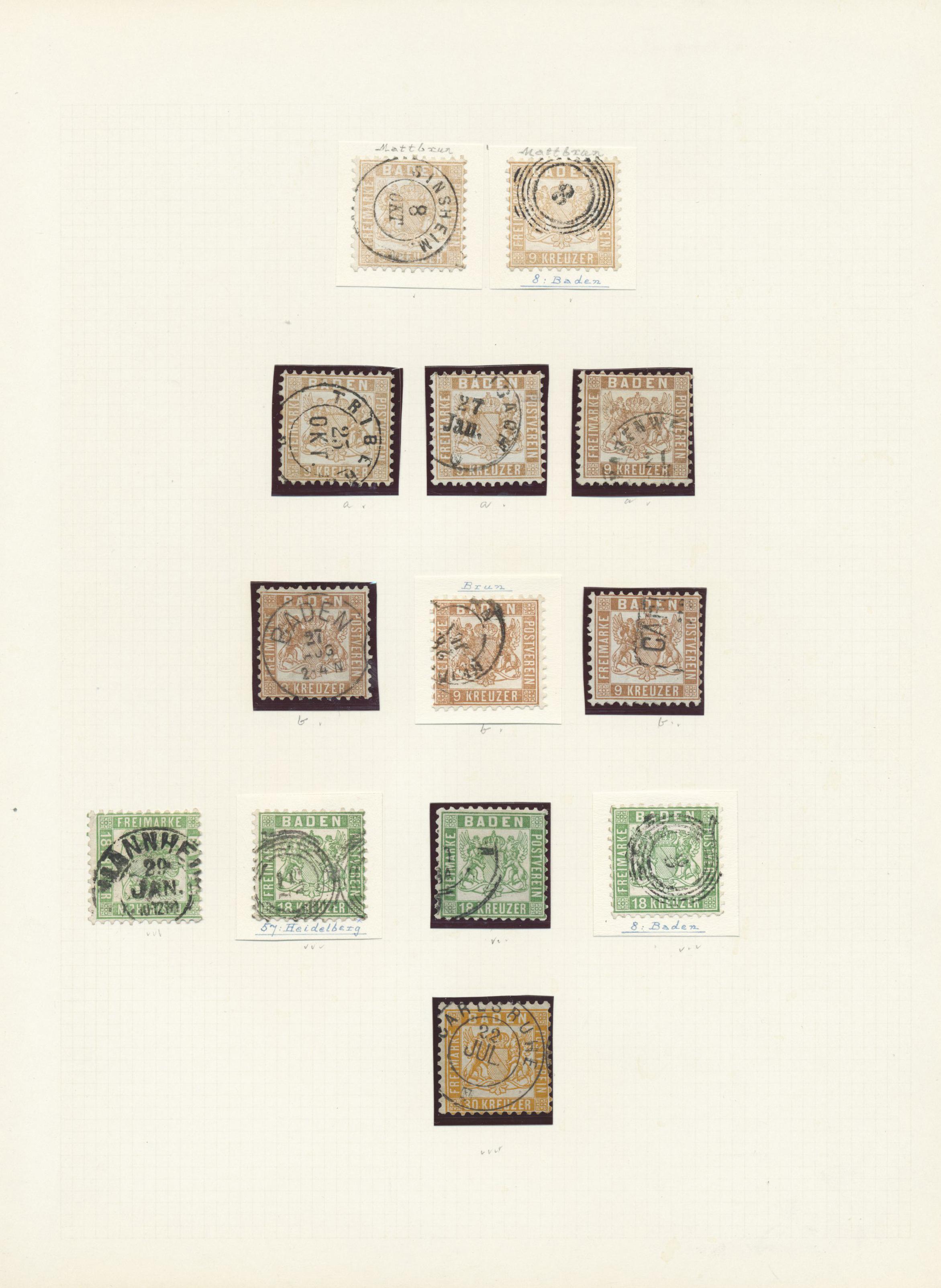 Lot 24252 - Baden - Marken und Briefe  -  Auktionshaus Christoph Gärtner GmbH & Co. KG Sale #47 Colections: Germany