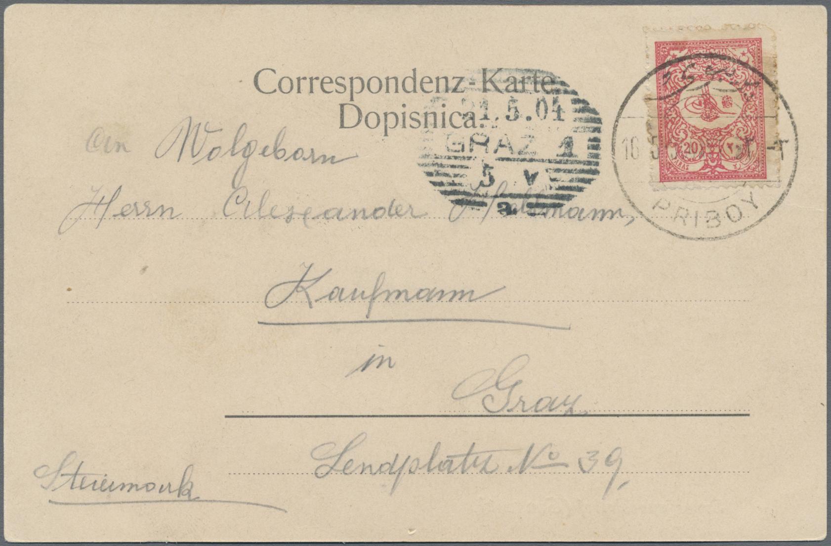 Lot 08279 - Bosnien und Herzegowina (Österreich 1879/1918)  -  Auktionshaus Christoph Gärtner GmbH & Co. KG Sale #48 The Single Lots Philatelie
