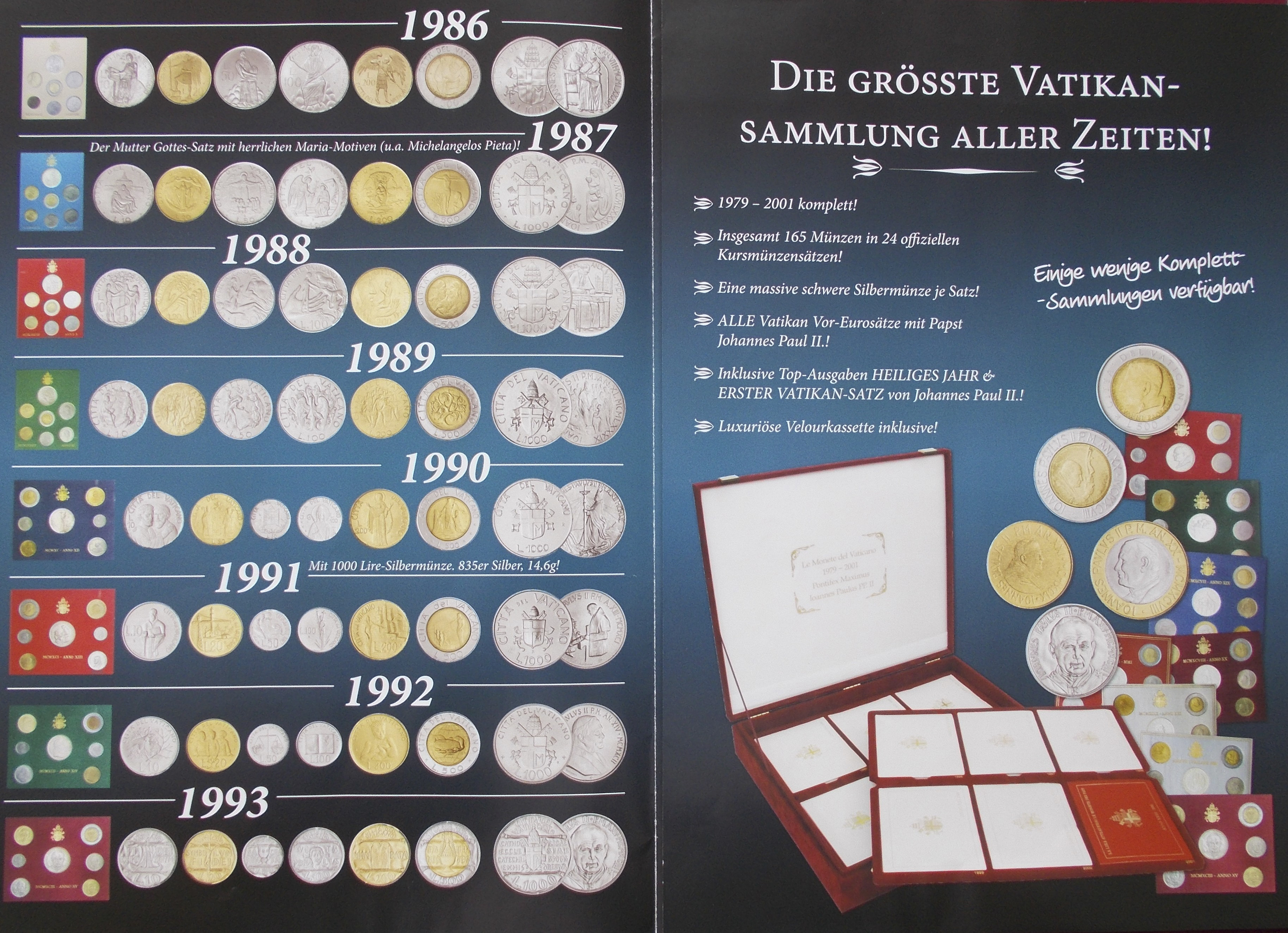 Lot 02698 - Vatikan | Europa  -  Auktionshaus Christoph Gärtner GmbH & Co. KG Sale #48 The Coins & The Picture Post Cards
