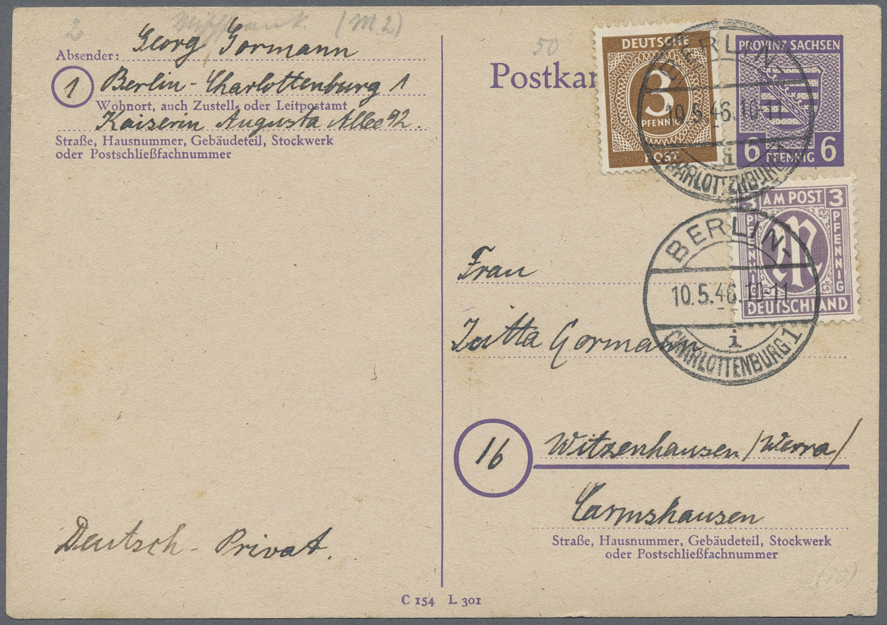 Lot 38116 - Berlin - Vorläufer  -  Auktionshaus Christoph Gärtner GmbH & Co. KG Collections Germany,  Collections Supplement, Surprise boxes #39 Day 7
