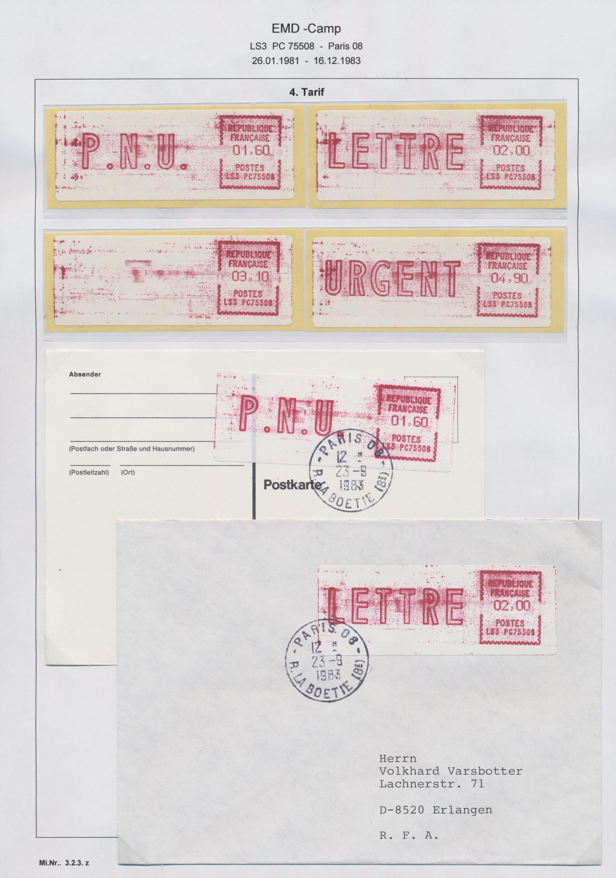 Postleitzahlen frankreich
