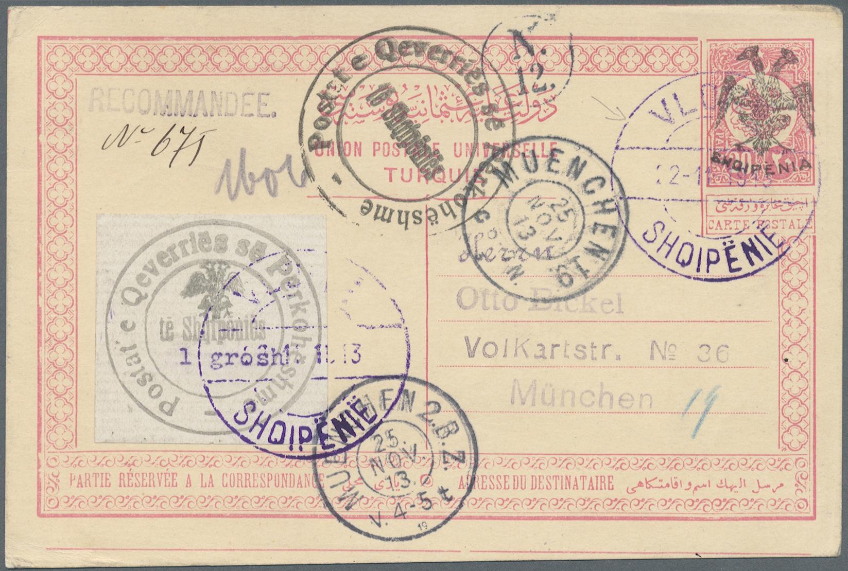 Lot 15557 - Albanien - Ganzsachen  -  Auktionshaus Christoph Gärtner GmbH & Co. KG Single lots Philately Overseas & Europe. Auction #39 Day 4