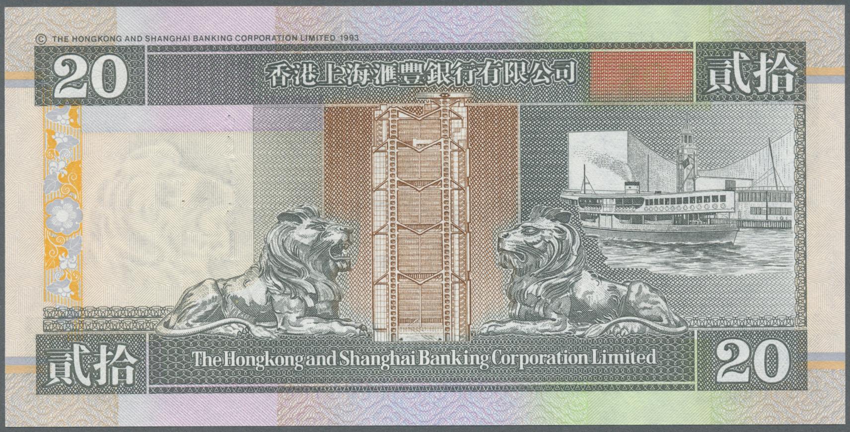 HONG KONG 10 DOLLARS 1986 P 191 UNC