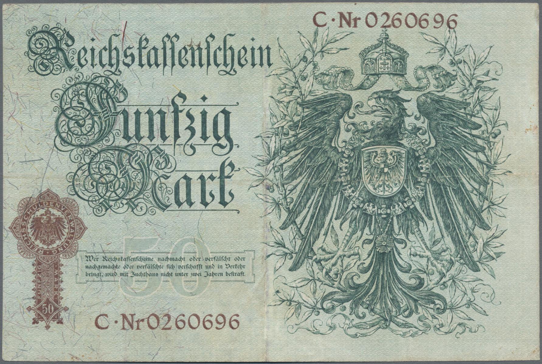 Lot 03319 - Deutschland - Deutsches Reich bis 1945 | Banknoten  -  Auktionshaus Christoph Gärtner GmbH & Co. KG Sale #45 Banknotes Germany/Numismatics