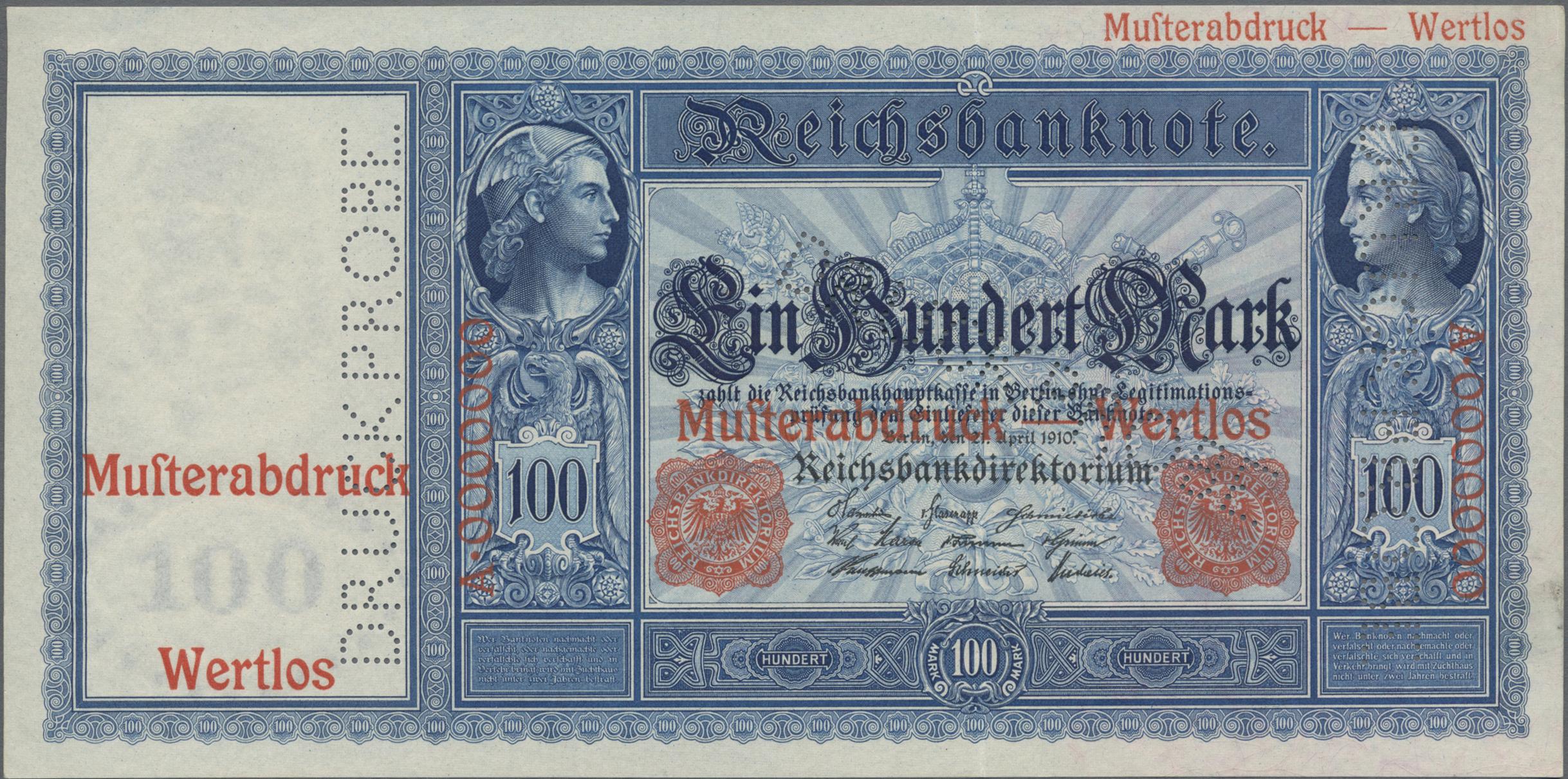 Lot 03323 - Deutschland - Deutsches Reich bis 1945 | Banknoten  -  Auktionshaus Christoph Gärtner GmbH & Co. KG Sale #45 Banknotes Germany/Numismatics