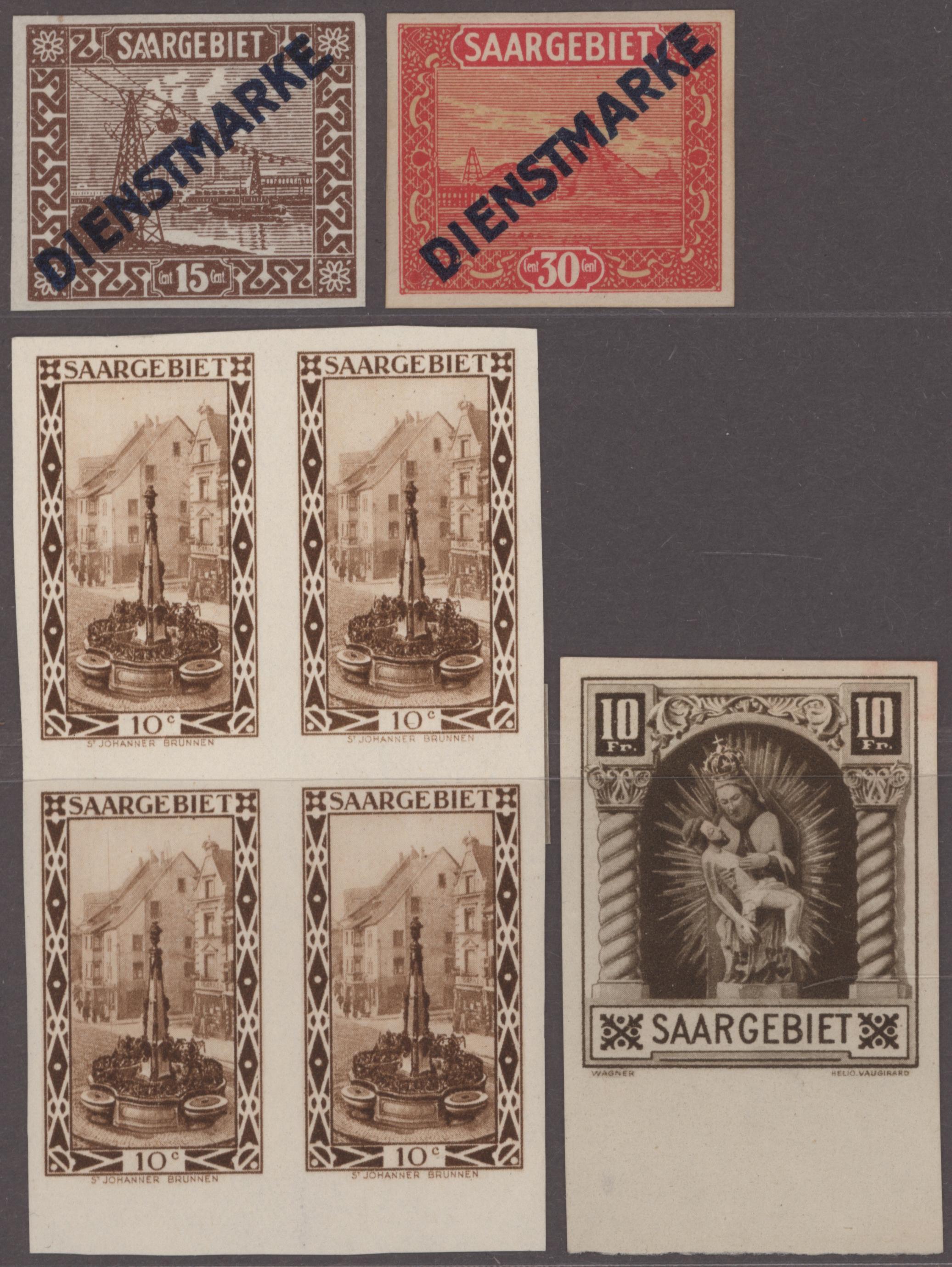 Lot 14752 - Deutsche Abstimmungsgebiete: Saargebiet  -  Auktionshaus Christoph Gärtner GmbH & Co. KG 51th Auction - Day 5