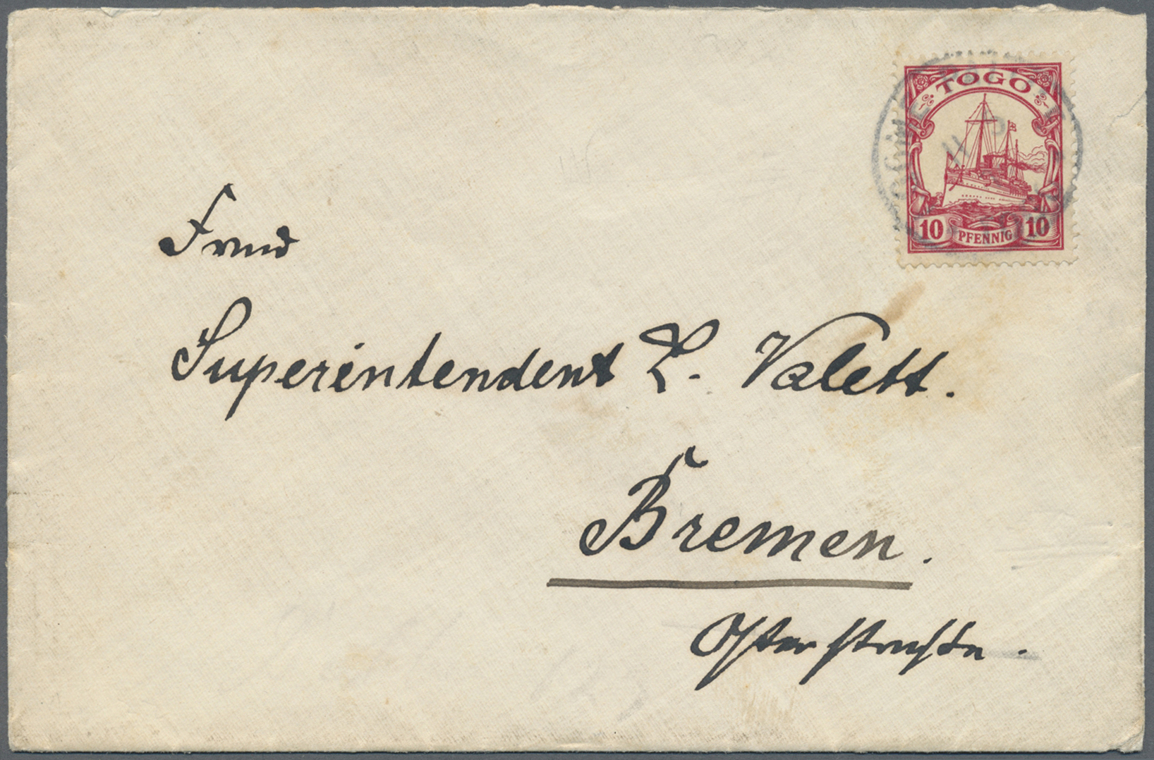 Lot 22584 - Deutsche Kolonien - Togo  -  Auktionshaus Christoph Gärtner GmbH & Co. KG Single lots Germany + Picture Postcards. Auction #39 Day 5