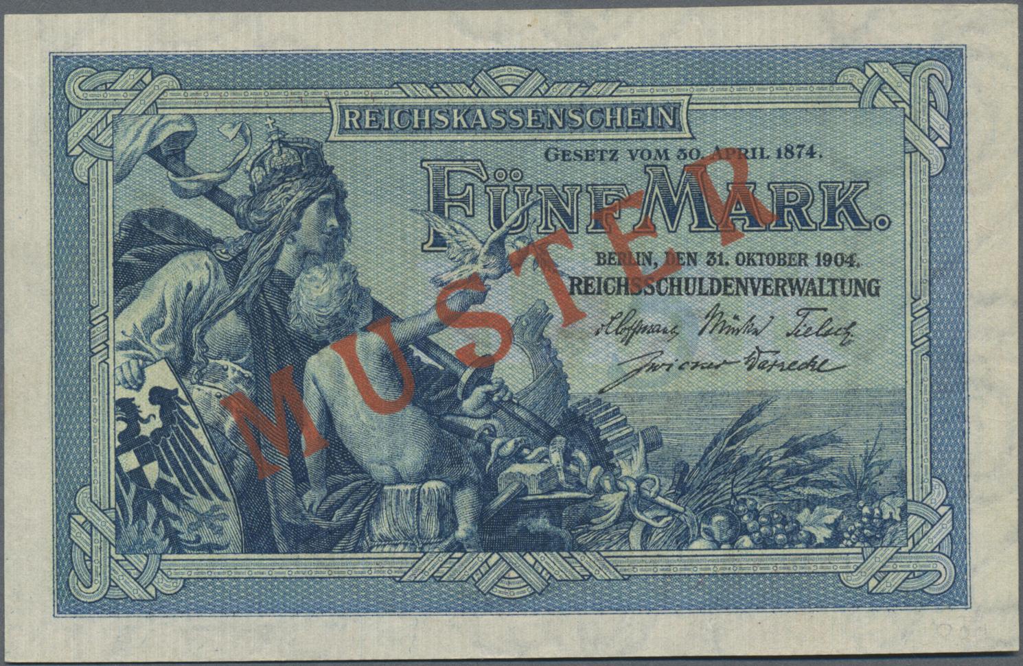 Lot 03320 - Deutschland - Deutsches Reich bis 1945 | Banknoten  -  Auktionshaus Christoph Gärtner GmbH & Co. KG Sale #45 Banknotes Germany/Numismatics