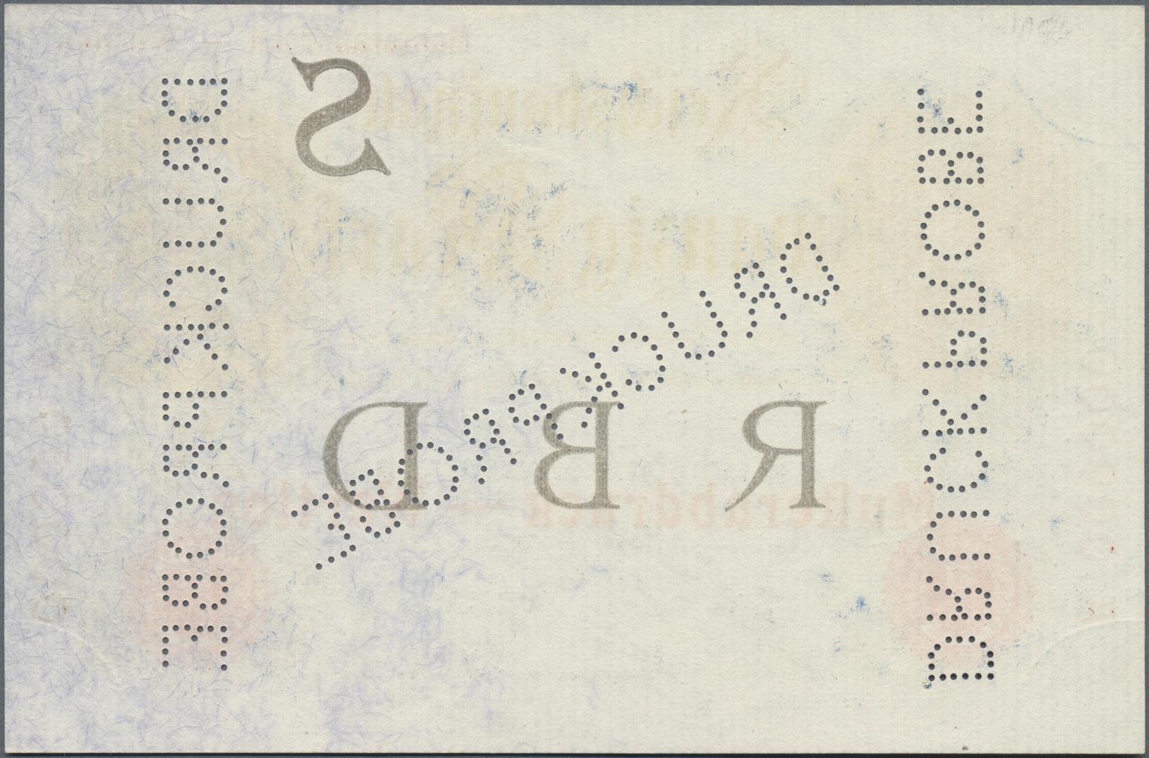 Lot 03322 - Deutschland - Deutsches Reich bis 1945 | Banknoten  -  Auktionshaus Christoph Gärtner GmbH & Co. KG Sale #45 Banknotes Germany/Numismatics