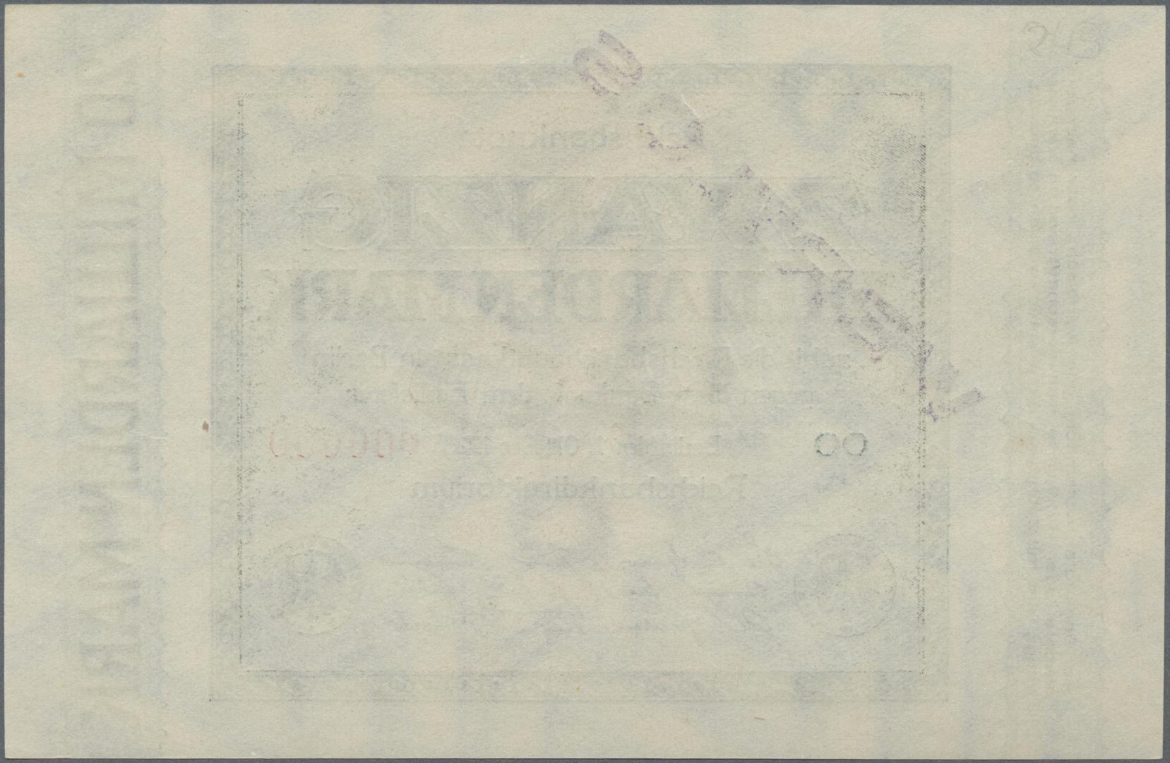 Lot 03340 - Deutschland - Deutsches Reich bis 1945 | Banknoten  -  Auktionshaus Christoph Gärtner GmbH & Co. KG Sale #45 Banknotes Germany/Numismatics
