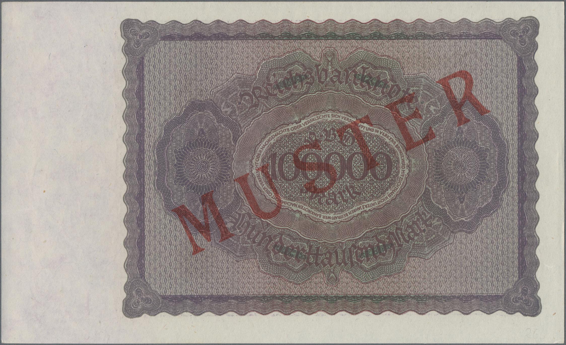 Lot 03331 - Deutschland - Deutsches Reich bis 1945 | Banknoten  -  Auktionshaus Christoph Gärtner GmbH & Co. KG Sale #45 Banknotes Germany/Numismatics
