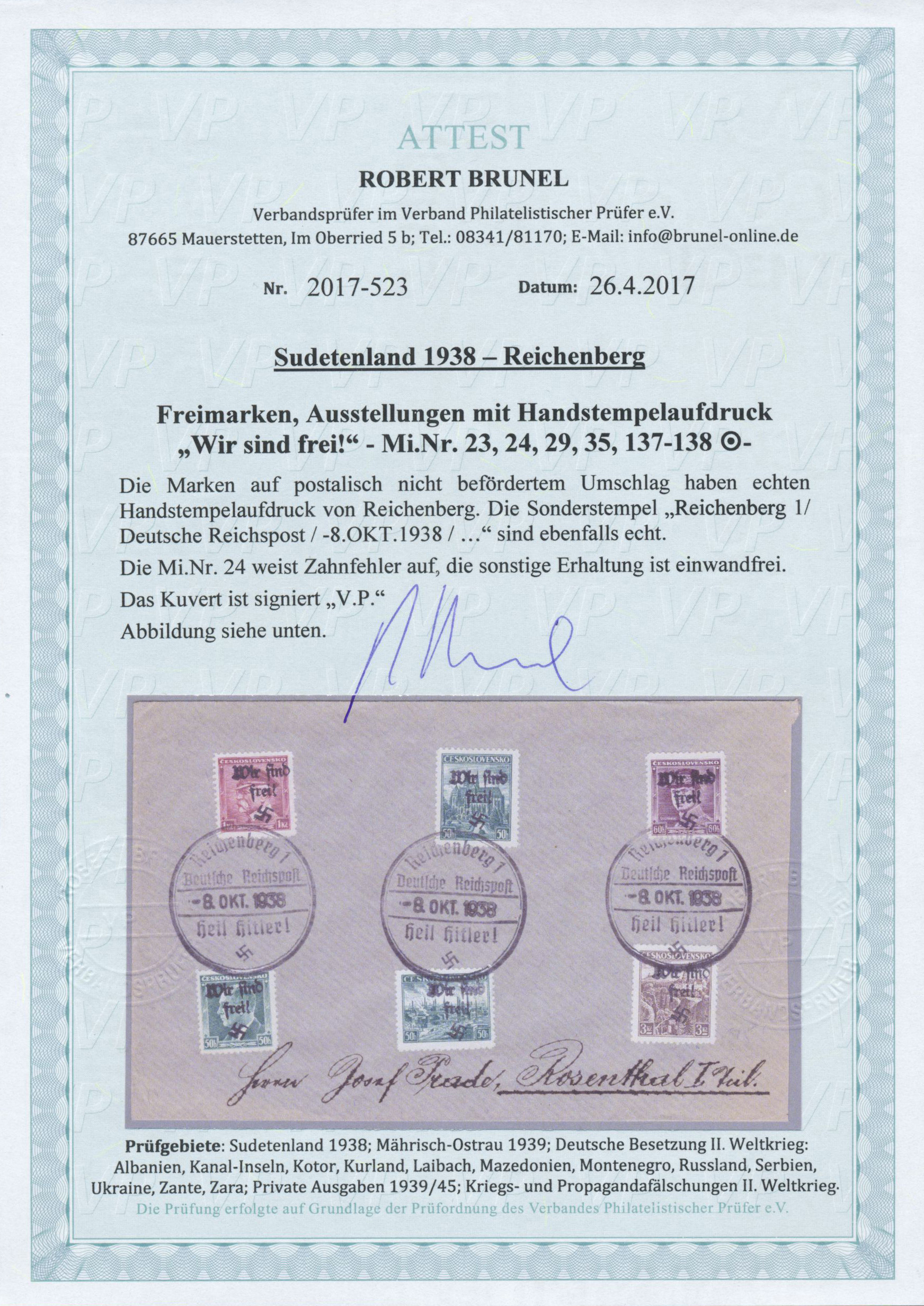 Lot 23091 - Sudetenland - Reichenberg  -  Auktionshaus Christoph Gärtner GmbH & Co. KG Single lots Germany + Picture Postcards. Auction #39 Day 5