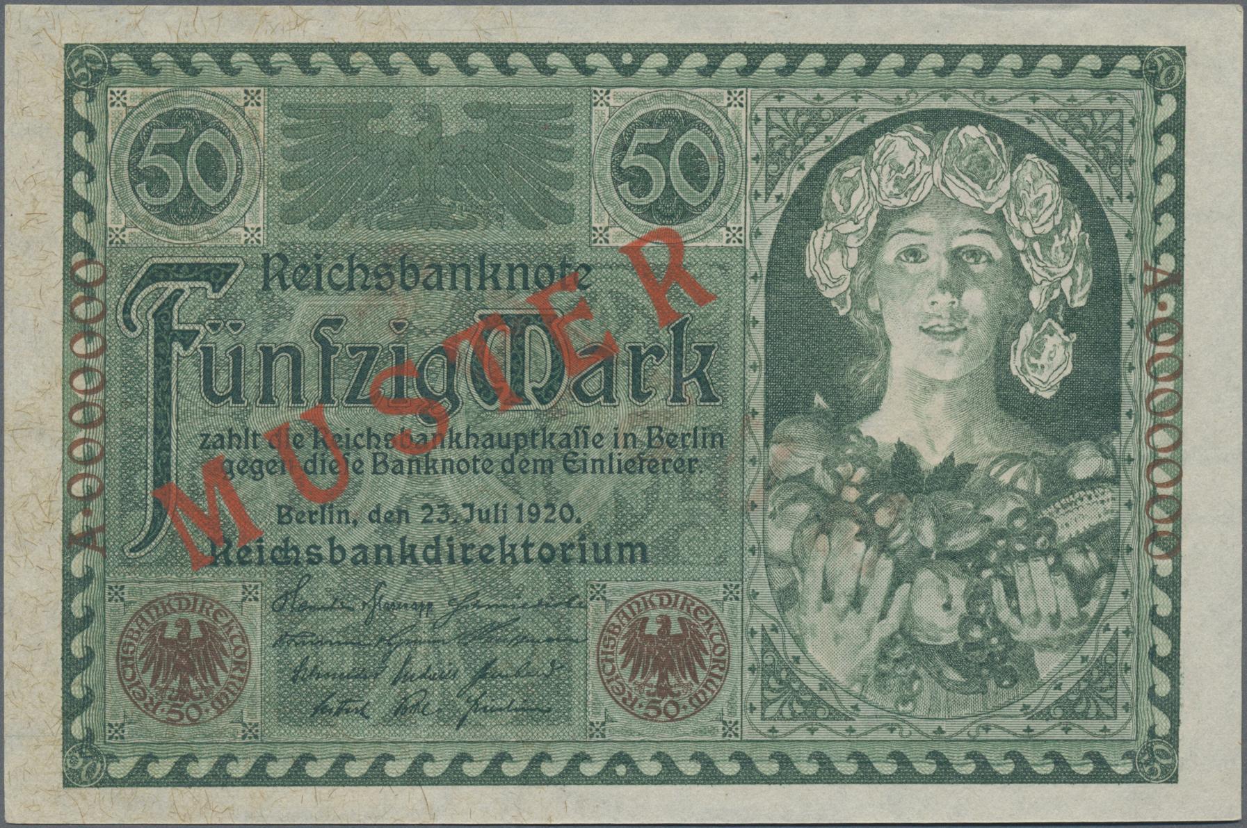 Lot 03326 - Deutschland - Deutsches Reich bis 1945 | Banknoten  -  Auktionshaus Christoph Gärtner GmbH & Co. KG Sale #45 Banknotes Germany/Numismatics