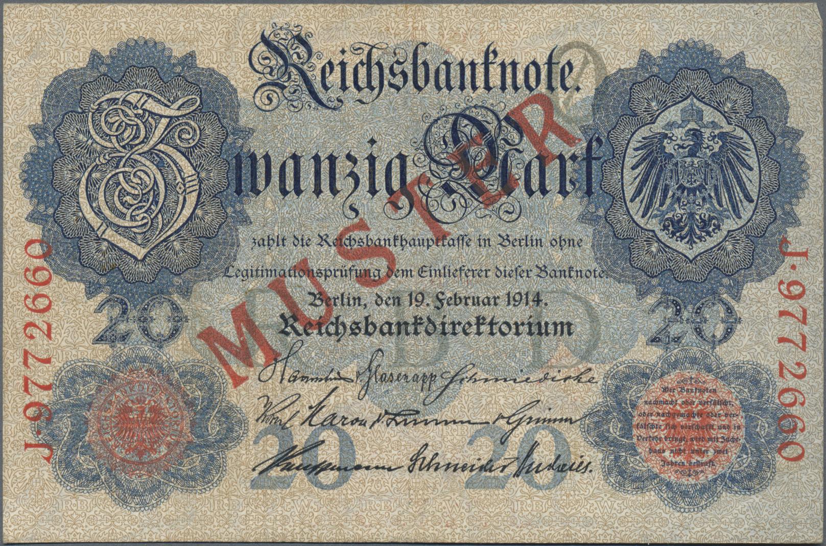 Lot 03324 - Deutschland - Deutsches Reich bis 1945 | Banknoten  -  Auktionshaus Christoph Gärtner GmbH & Co. KG Sale #45 Banknotes Germany/Numismatics
