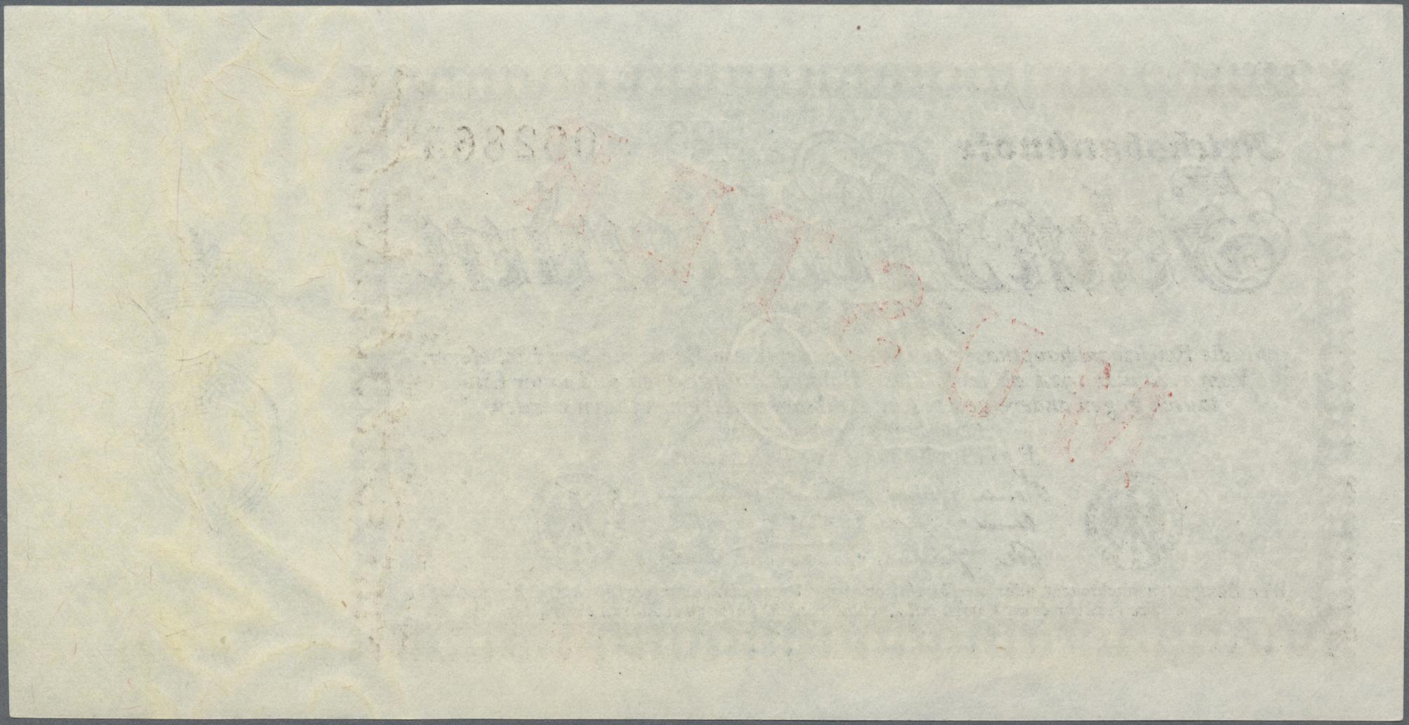 Lot 03339 - Deutschland - Deutsches Reich bis 1945 | Banknoten  -  Auktionshaus Christoph Gärtner GmbH & Co. KG Sale #45 Banknotes Germany/Numismatics