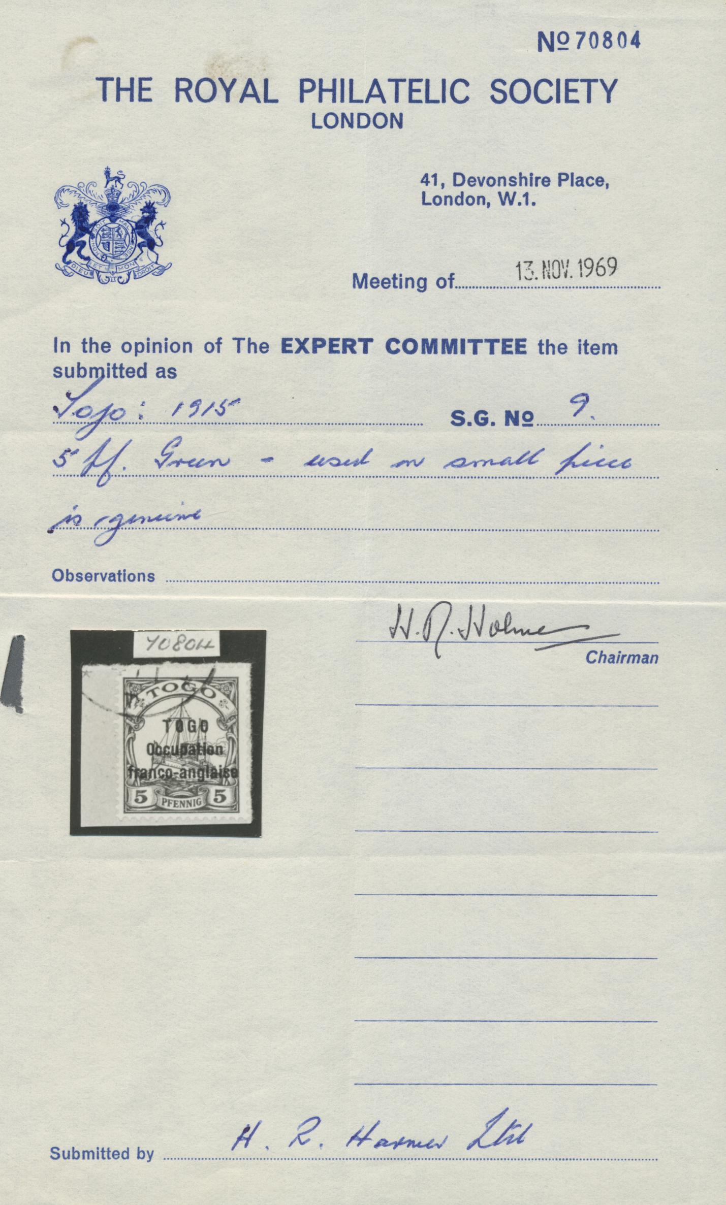 Lot 18834 - Deutsche Kolonien - Togo - Französische Besetzung  -  Auktionshaus Christoph Gärtner GmbH & Co. KG Auction #40 Germany, Picture Post Cards, Collections Overseas, Thematics