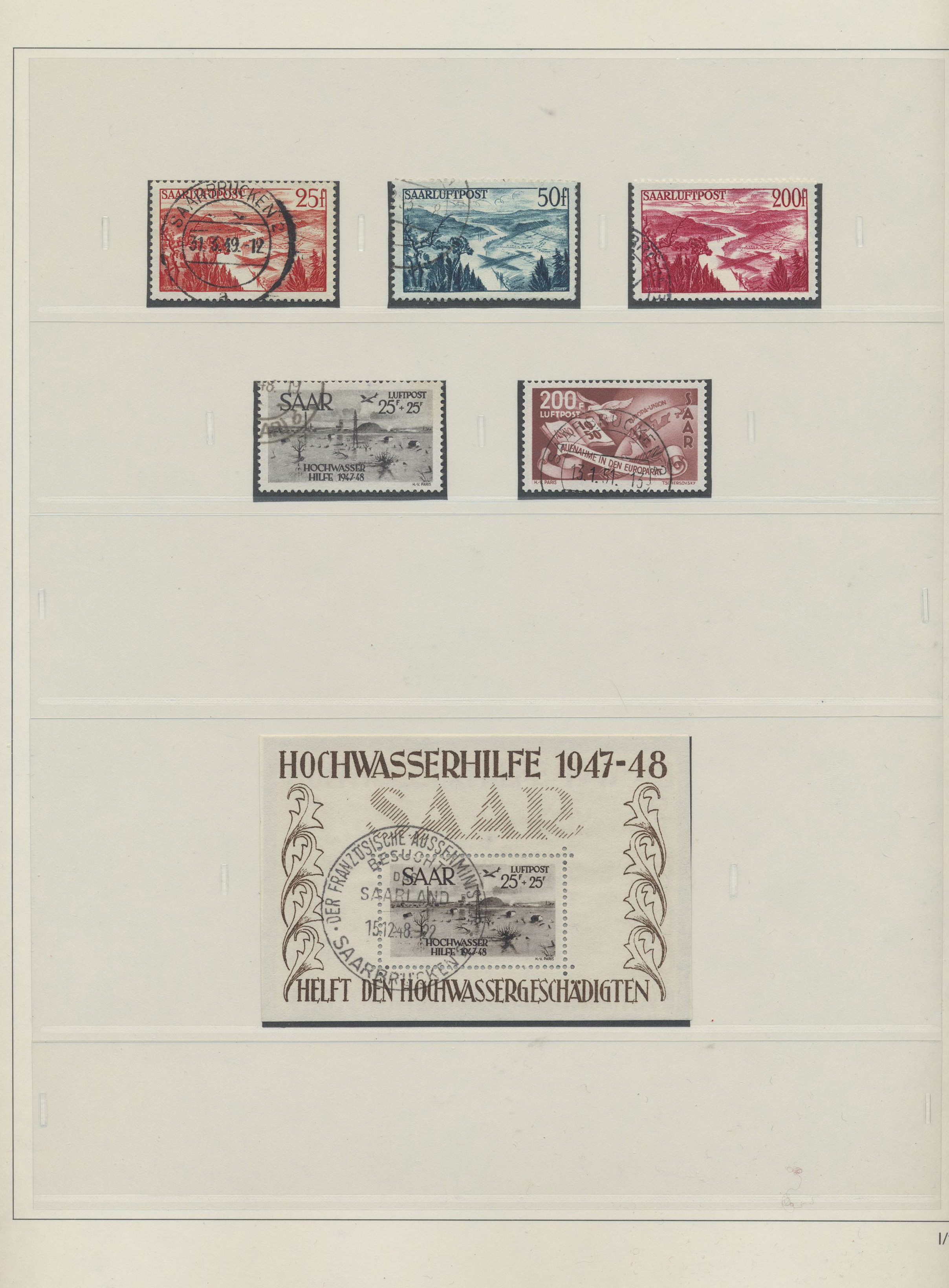 Lot 38275 - Saarland (1947/56)  -  Auktionshaus Christoph Gärtner GmbH & Co. KG Collections Germany,  Collections Supplement, Surprise boxes #39 Day 7