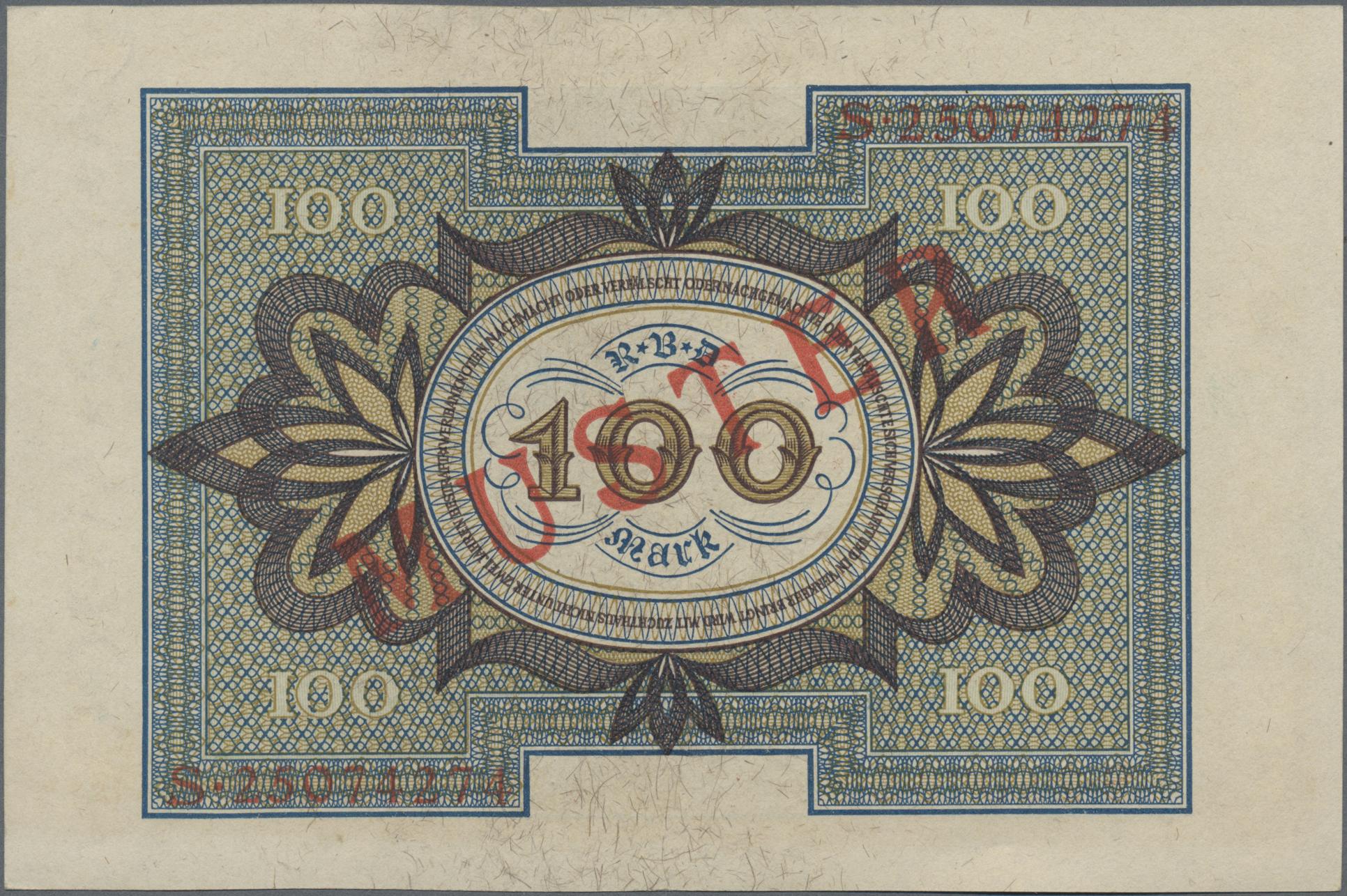 Lot 03327 - Deutschland - Deutsches Reich bis 1945 | Banknoten  -  Auktionshaus Christoph Gärtner GmbH & Co. KG Sale #45 Banknotes Germany/Numismatics